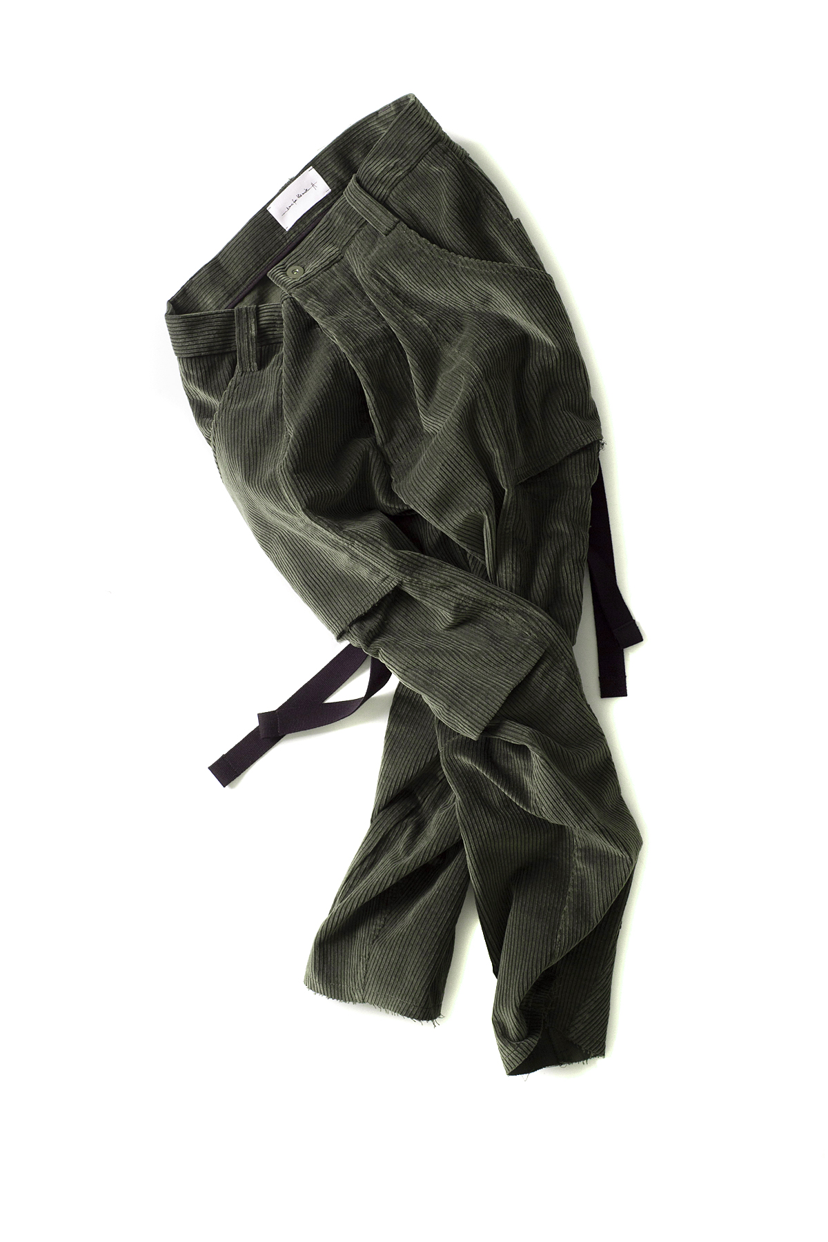 Song for the Mute : Kick Cropped Cargo Pants (Green)