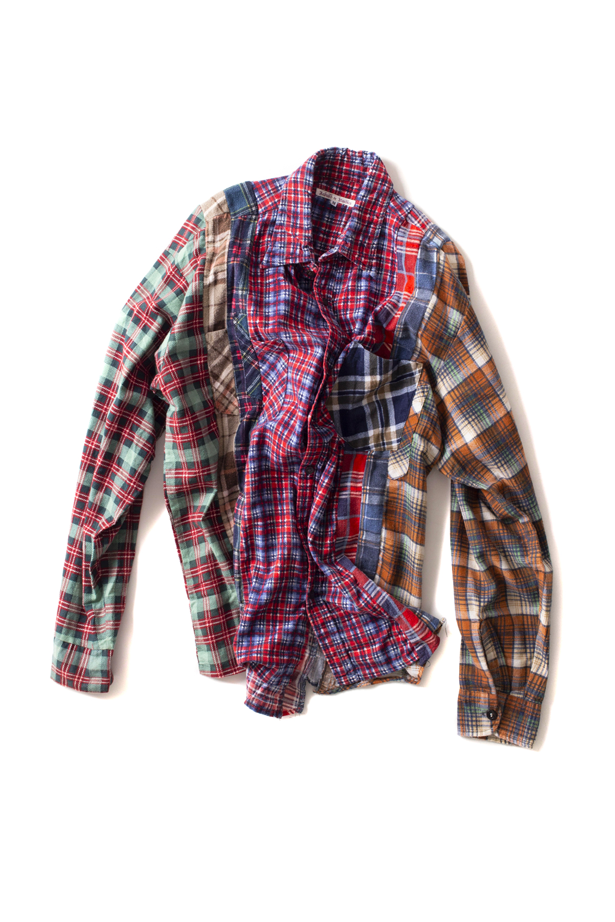 NEEDLES : Rebuild By NEEDLES 7Cuts Flannel Shirts (M-E)