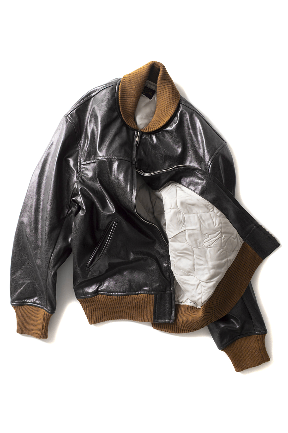 NEEDLES : Synthetic Leather G-1 Jacket (Brown)