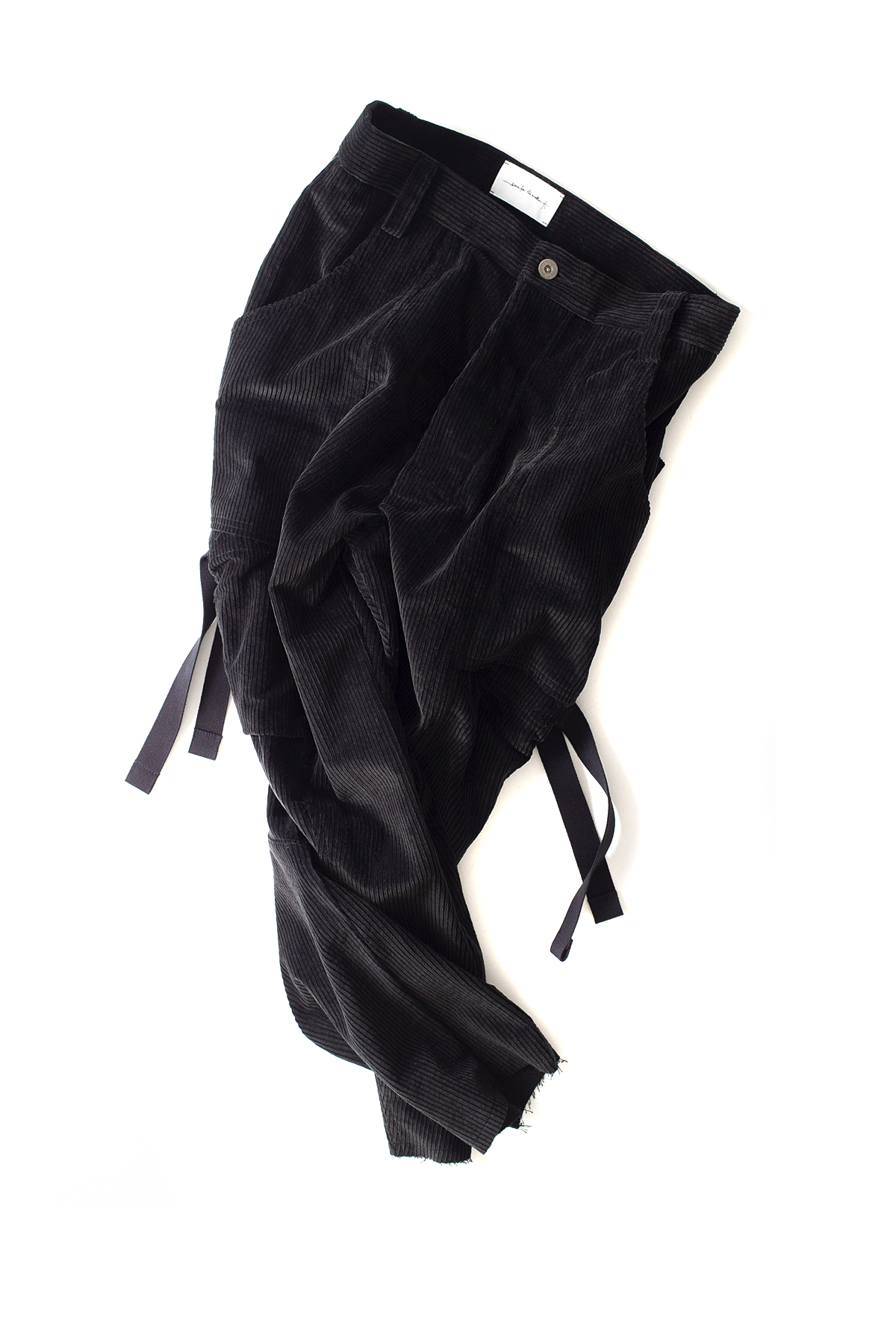 Song for the Mute : Kick Cropped Cargo Pants (Black)