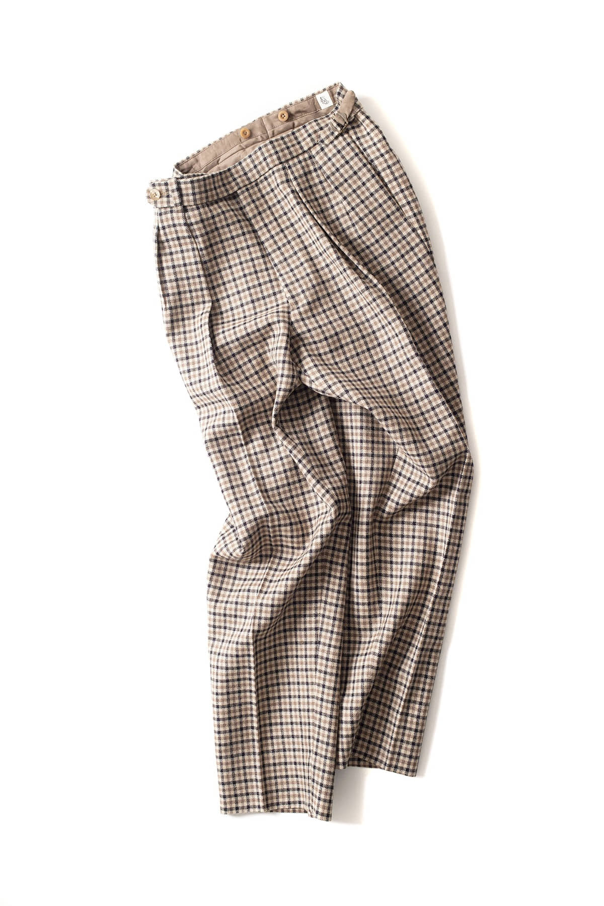Kaptain Sunshine : Two Pleats Trousers (Brown)