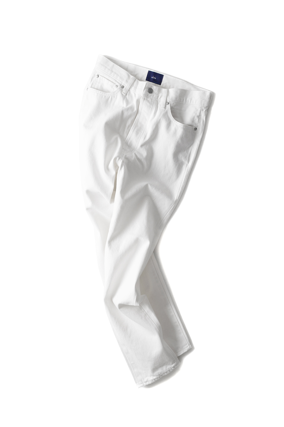 Ordinary fits #WHITE : New Clean Fits White Denim One Wash (White)