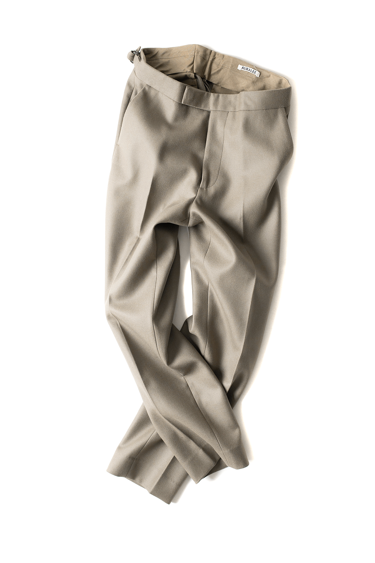 Auralee : Light Melton Slacks (Grey Beige)