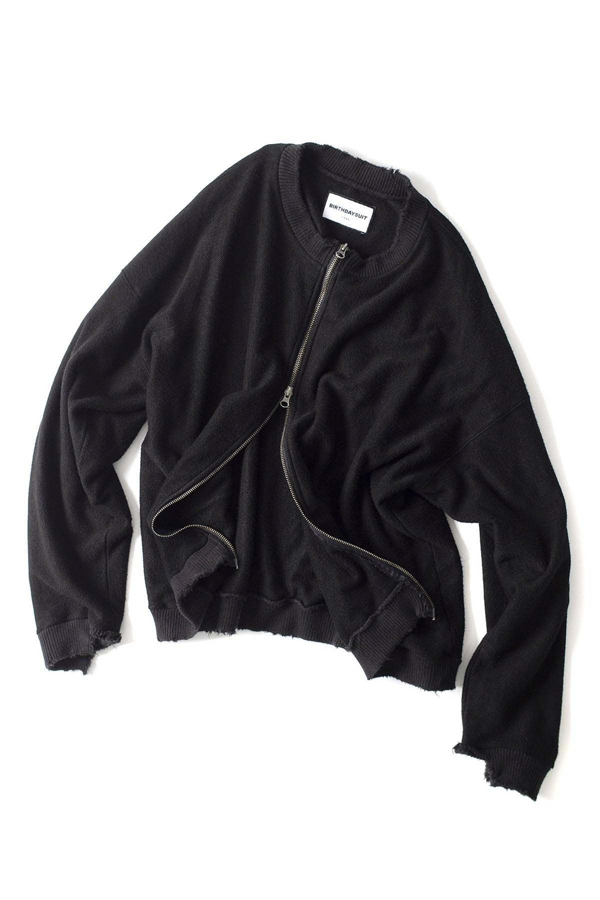 BIRTHDAYSUIT : Super Soft Sweat Zip up (Black)