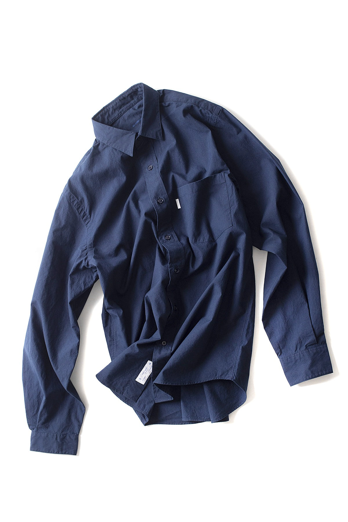 S H : Regular Collar Shirt (Navy)