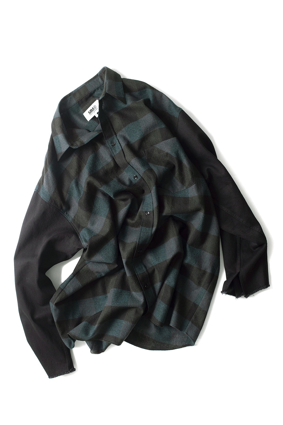 MM6 Maison Margiela : Oversized Shirt Petrol (Check)
