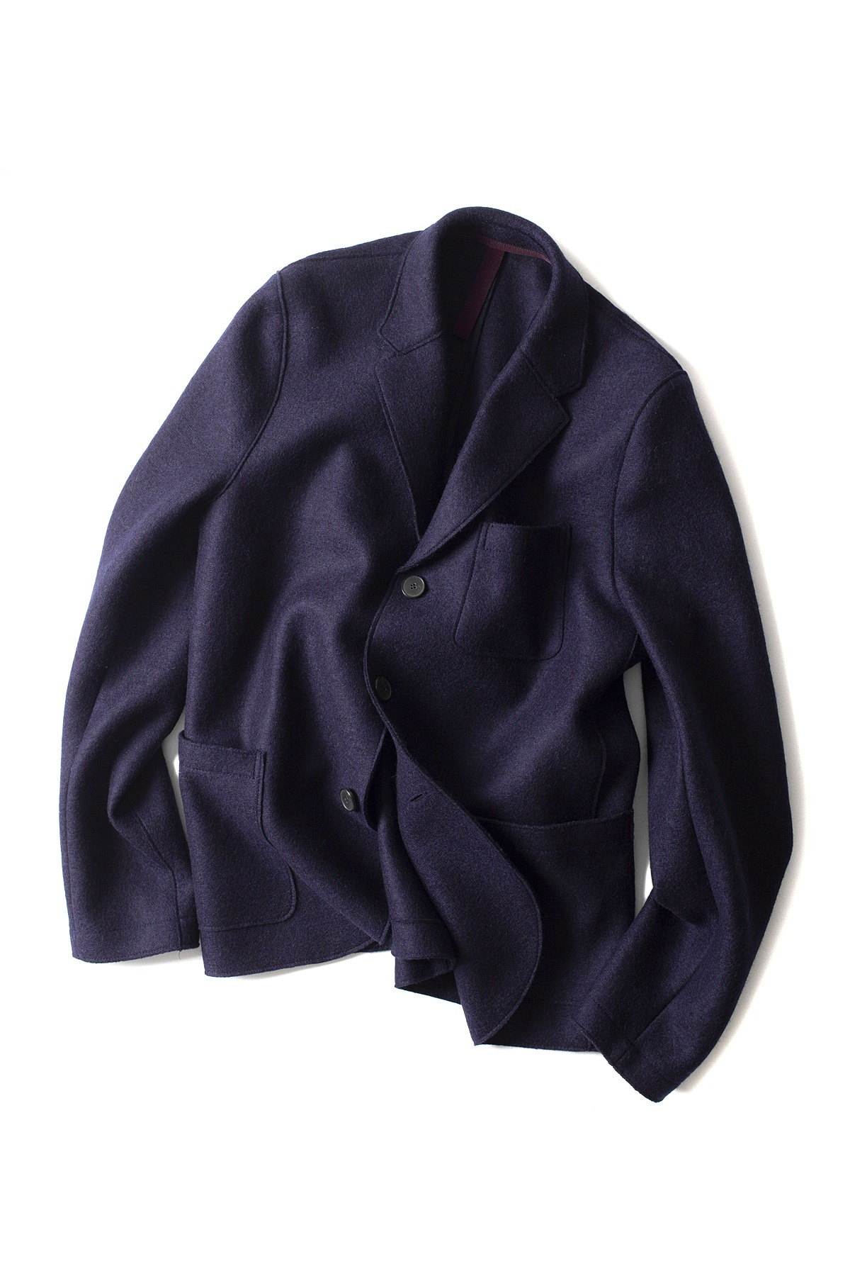 Harris Wharf London : 3.B Boxy Pressed Wool Jacket (Navy)
