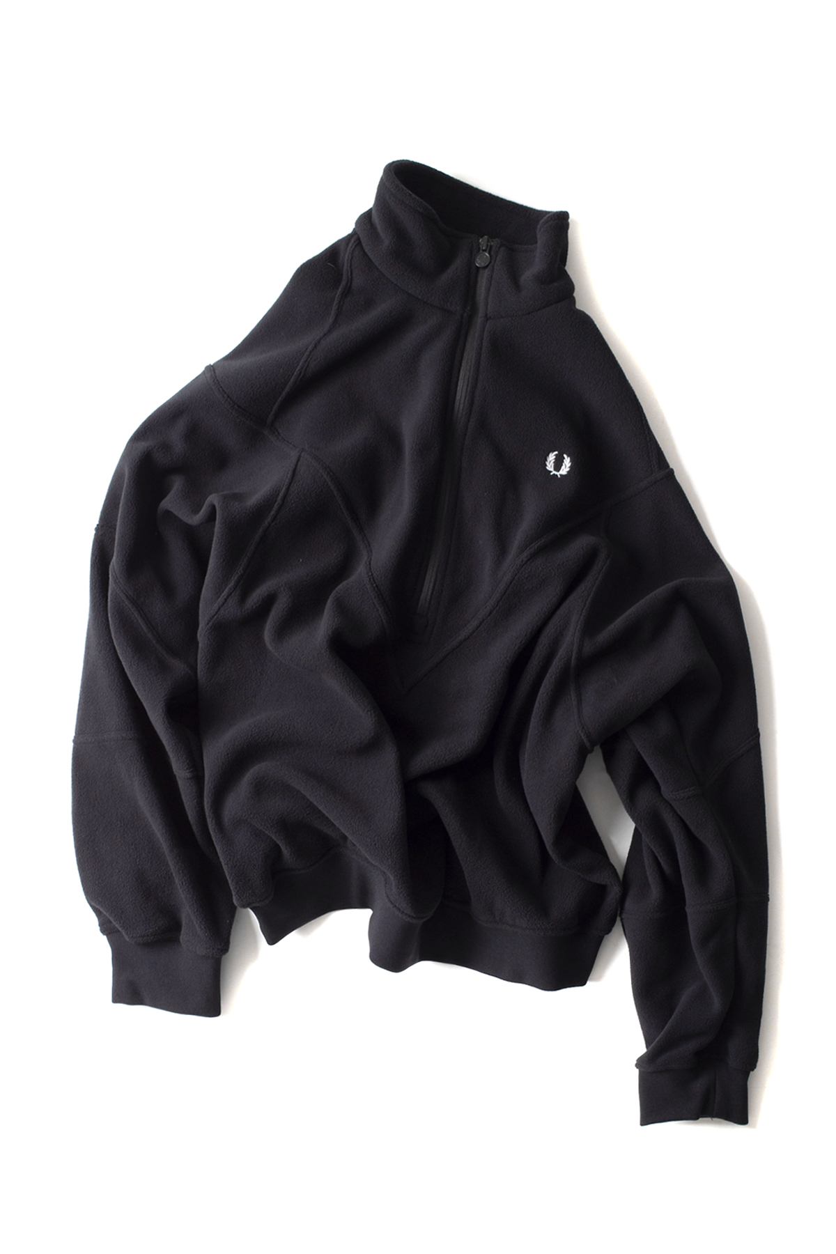 FRED PERRY : Monochrome Half Zip Fleece (Black)