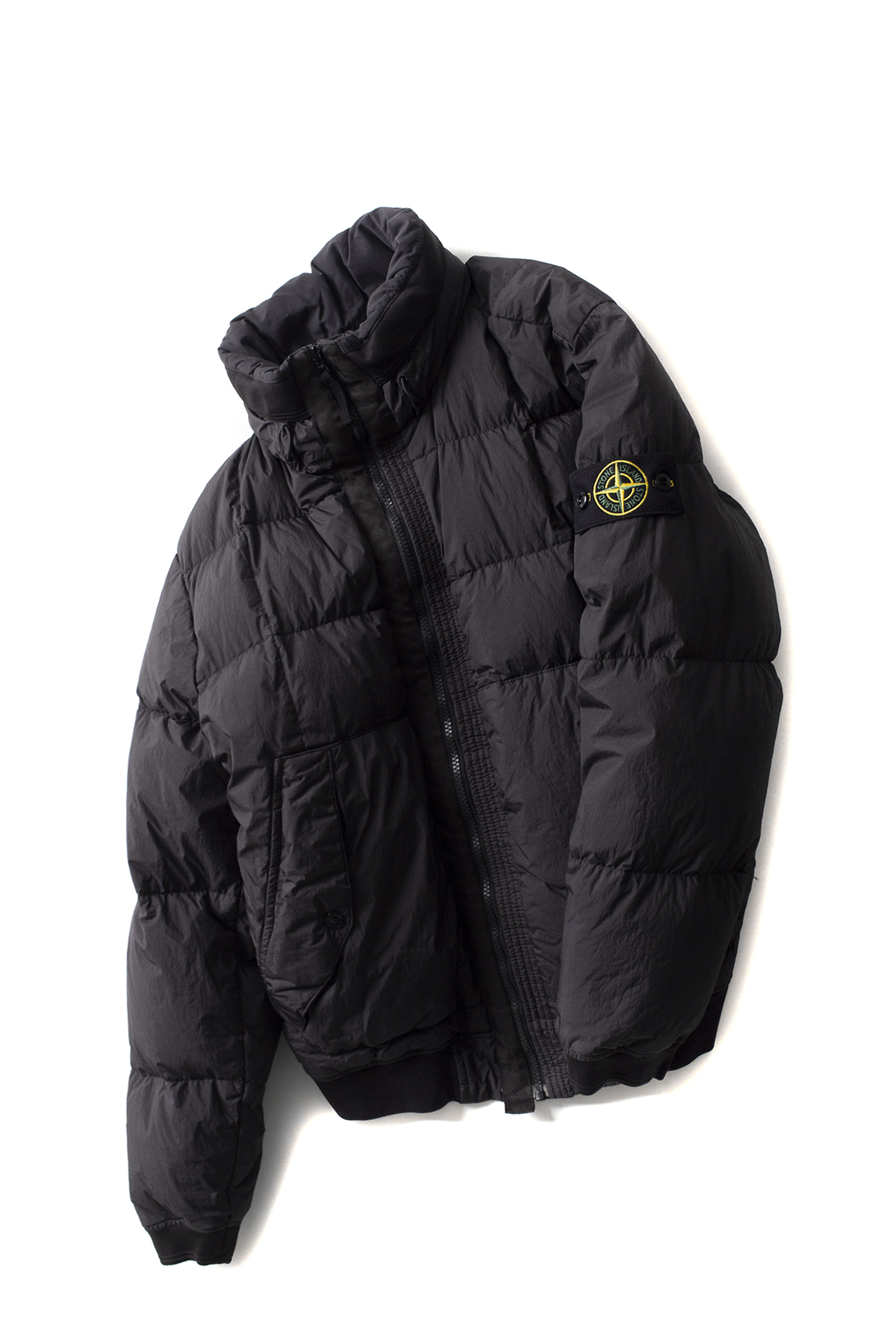 Stone Island : Garment Dyed Crinkle Reps NY Down (Black)