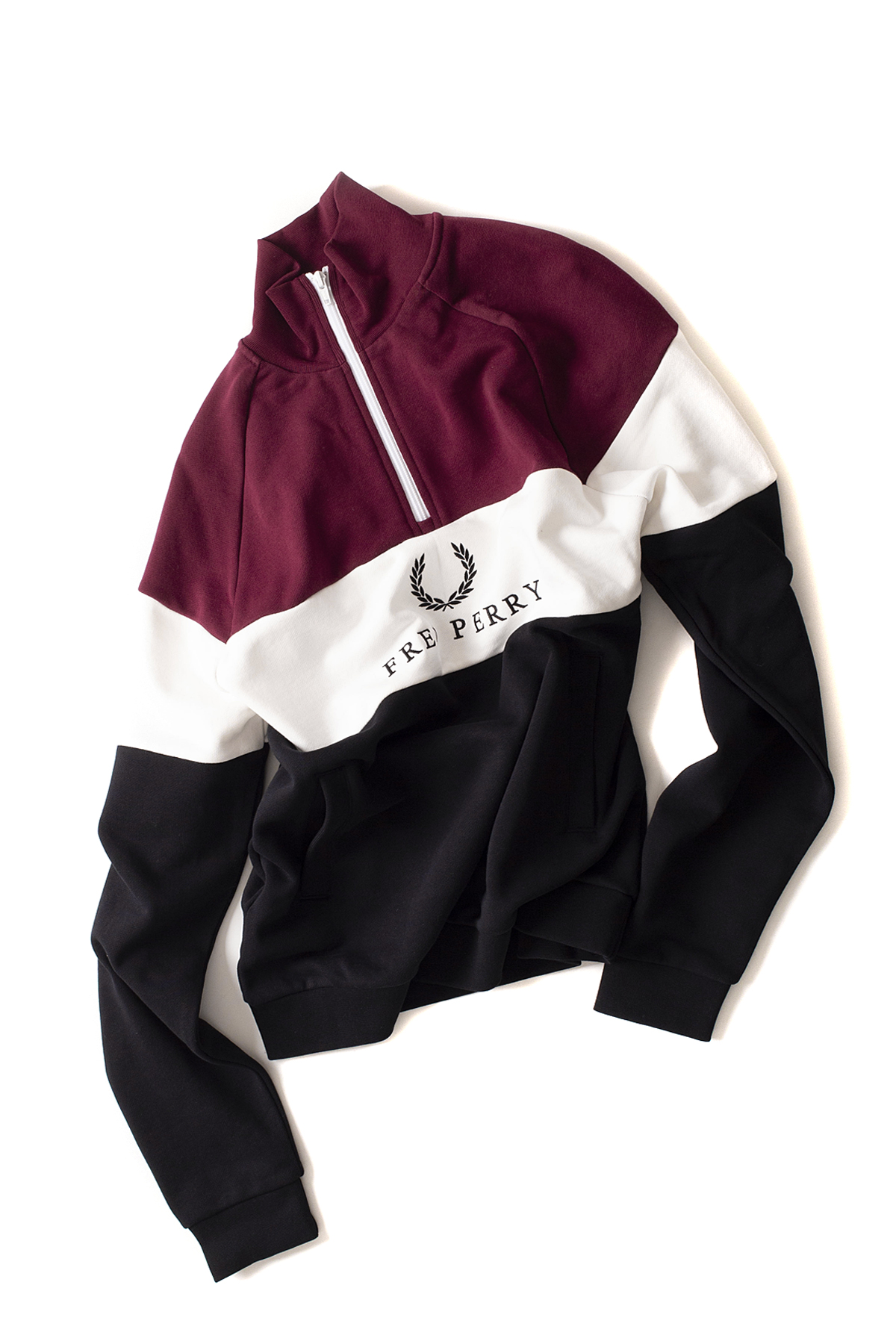 FRED PERRY : Embroidered Panel Sweatshirt (Tawny Port)