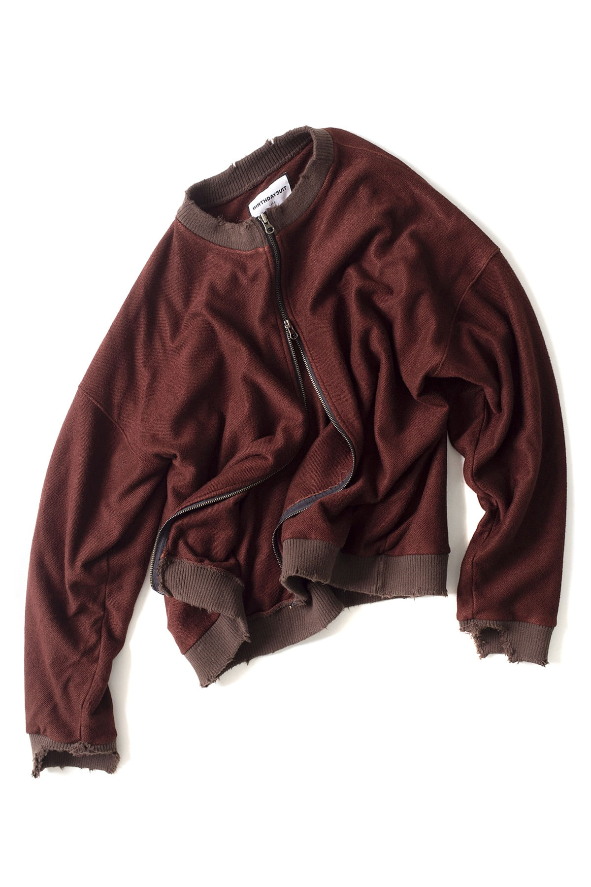 BIRTHDAYSUIT : Super Soft Sweat Zip up (Brown)