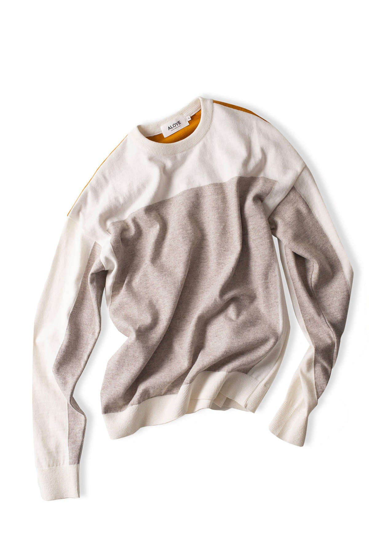 ALOYE : G.F.G.S Long Sleeve Cotton Knitted (White / Gray)