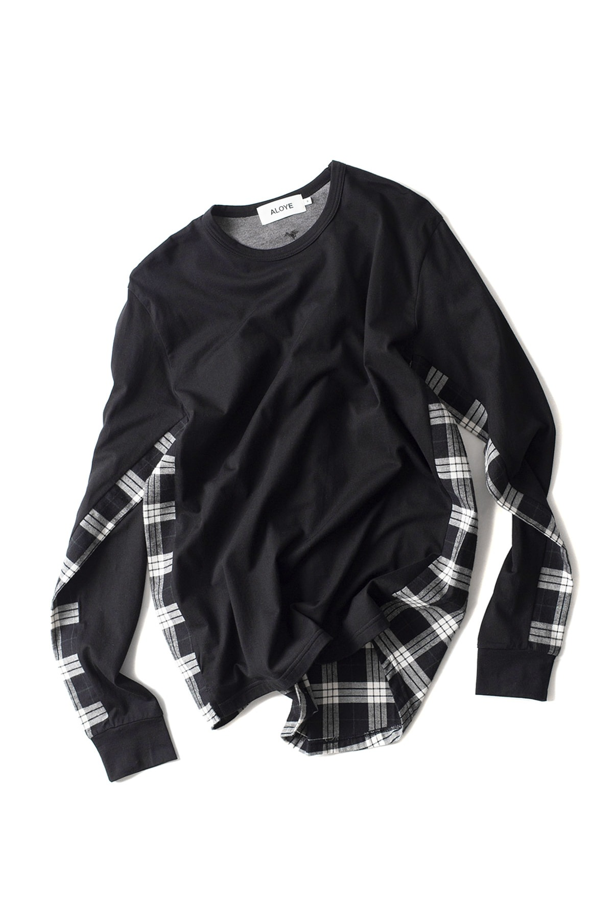 ALOYE : Shirt Fabrics Long Sleeve T-Shirt (Black)
