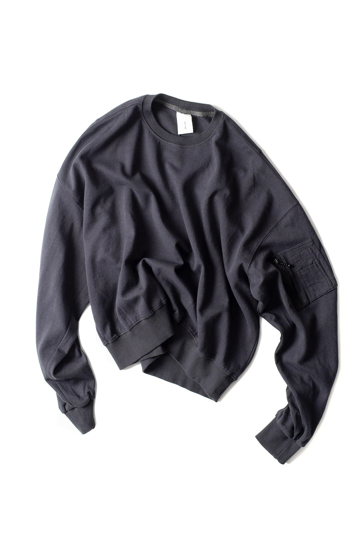 Ooparts : Ma-1 Cotton-jersey Sweatshirt (Charcoal)