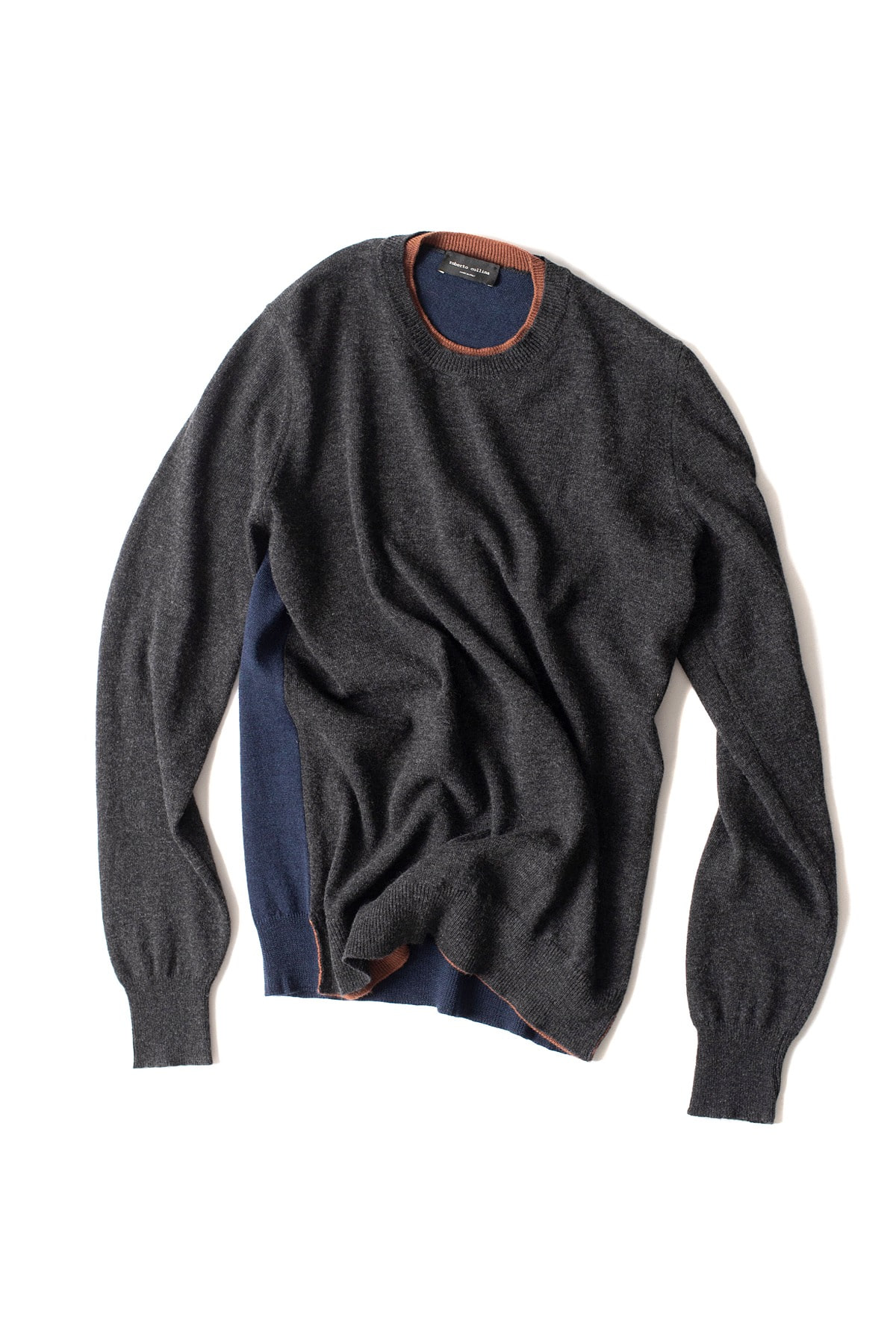 roberto collina : L/S Knit Round Neck Sweater (Charcoal)