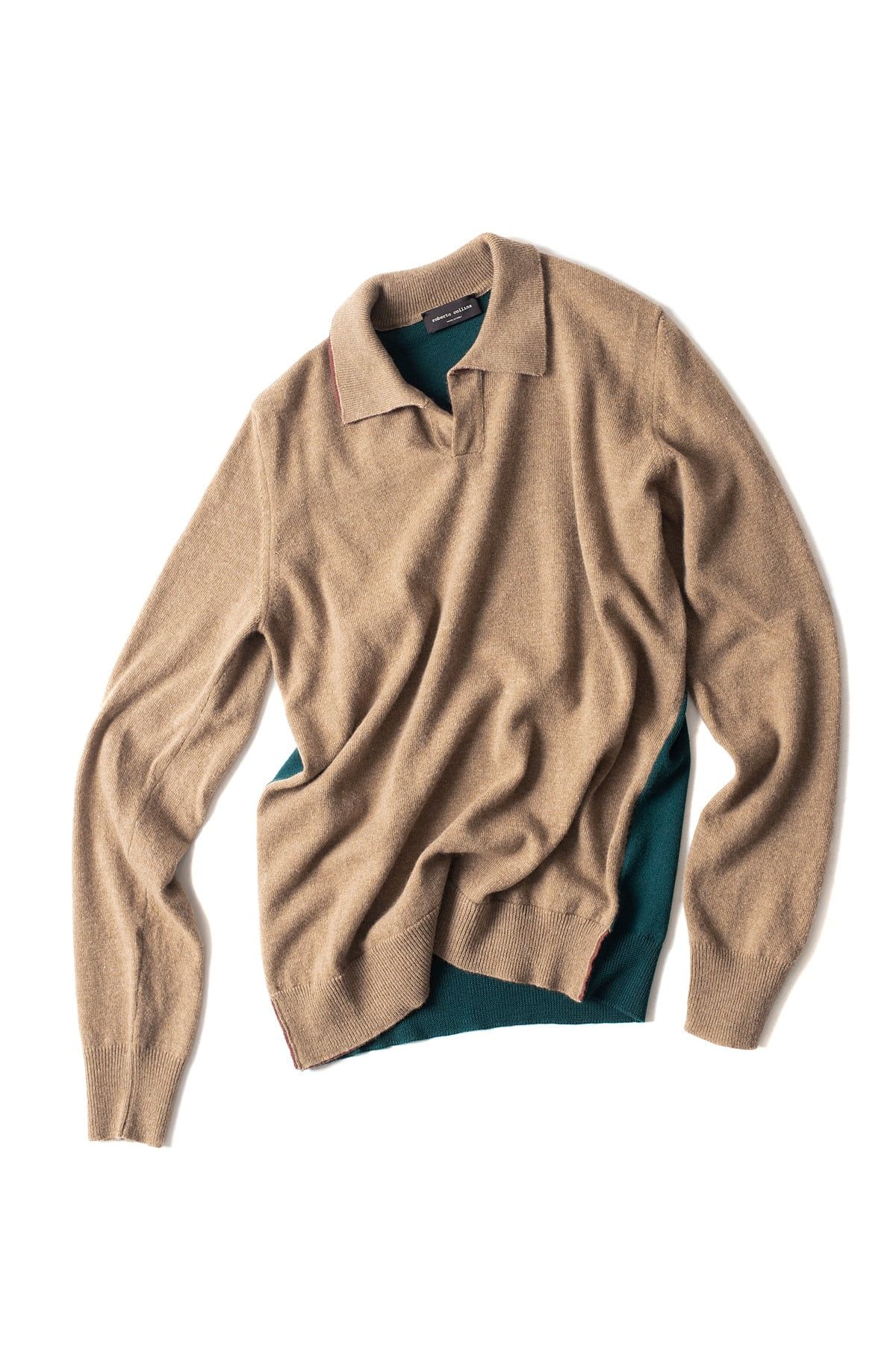 roberto collina : L/S Knit 3Colors Polo (Beige)