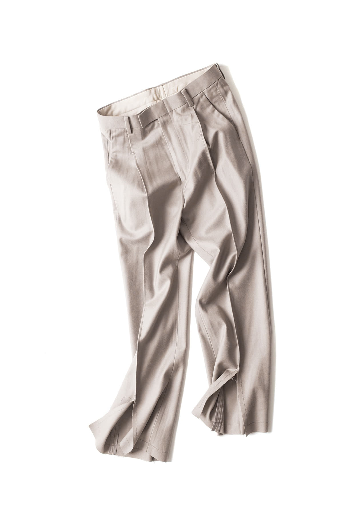 Ooparts : Center Slit Wool Pants (Mushroom)