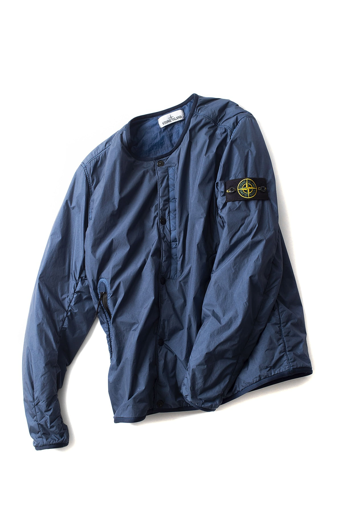 Stone Island : Garment Dyed Crinkle Reps NY (Blue)
