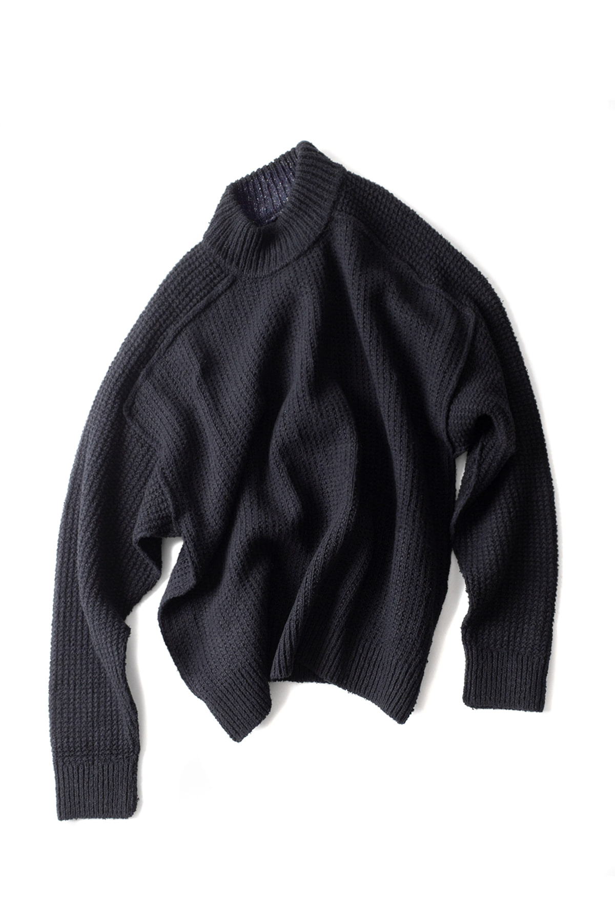 WRAPINKNOT : Raw Silk Reversible Knit (Black)