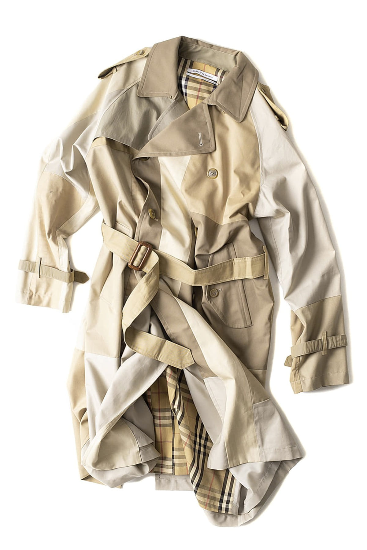 Children of the discordance : Vintage Patch Trench Coat (B)