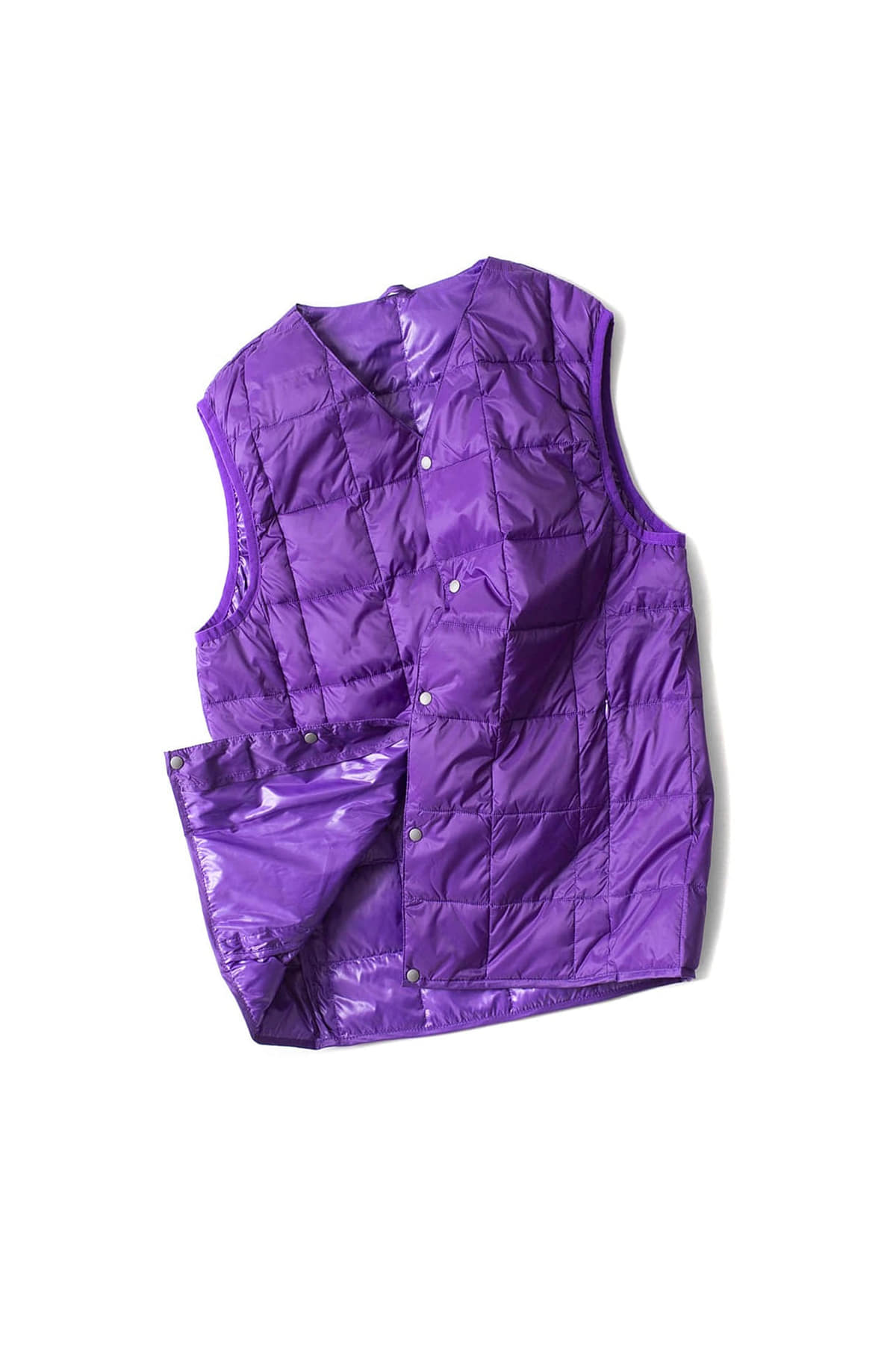 TAION :  V Neck Button Down Vest (Purple)