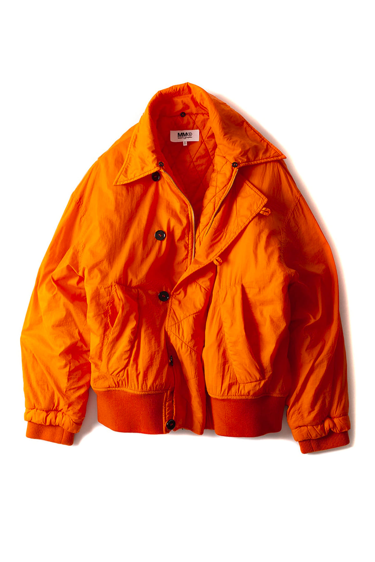 MM6 Maison Margiela : Fur Bomber Jacket (Orange)