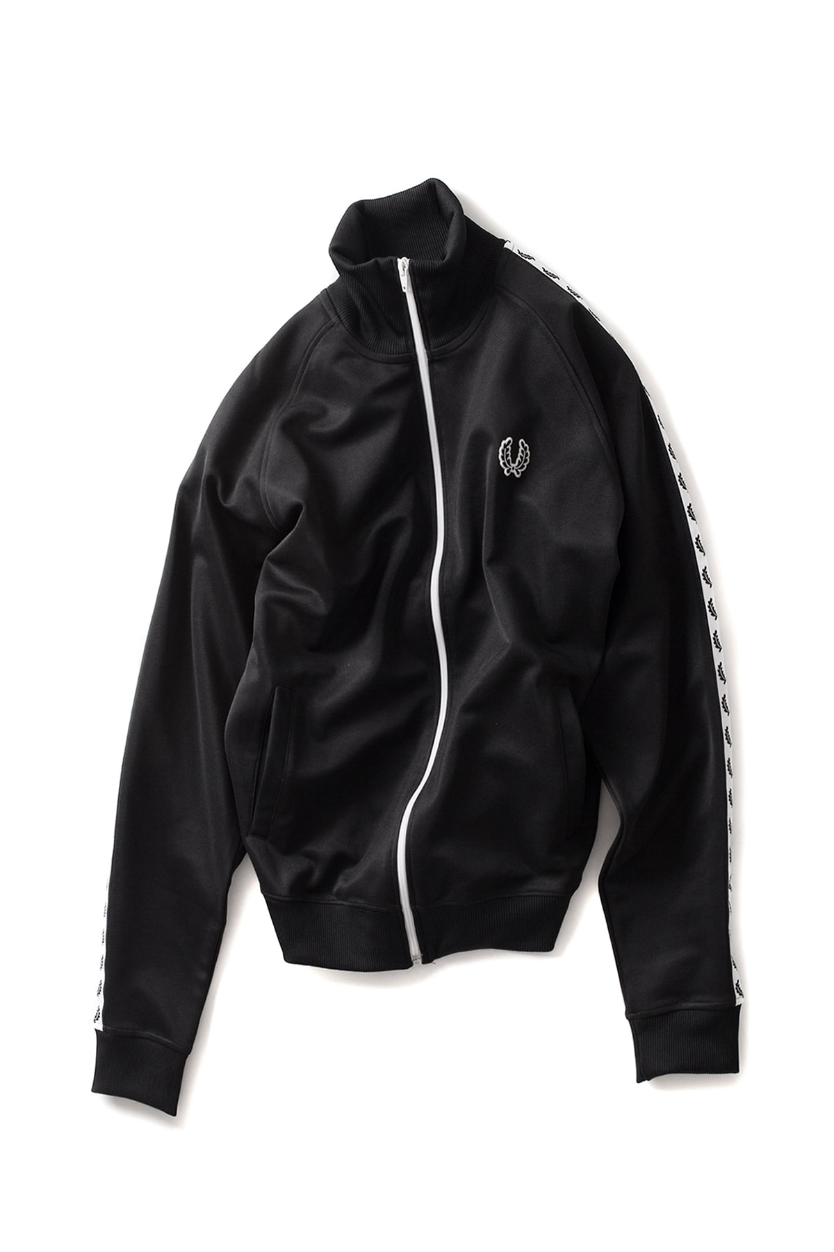 FRED PERRY : Taped Track Jacket (Black)