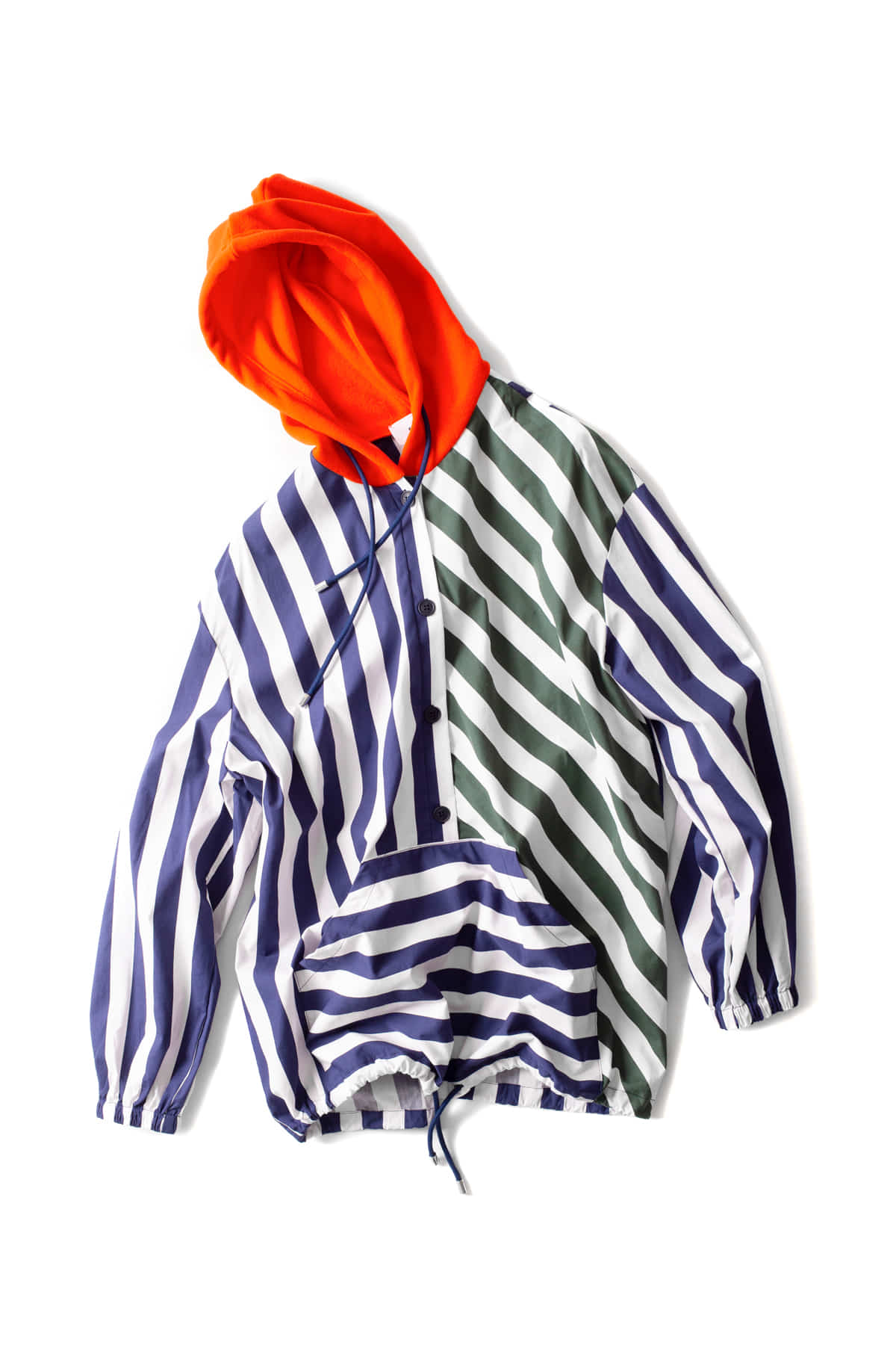SUNNEI : Hooded Shirt (Stripe)