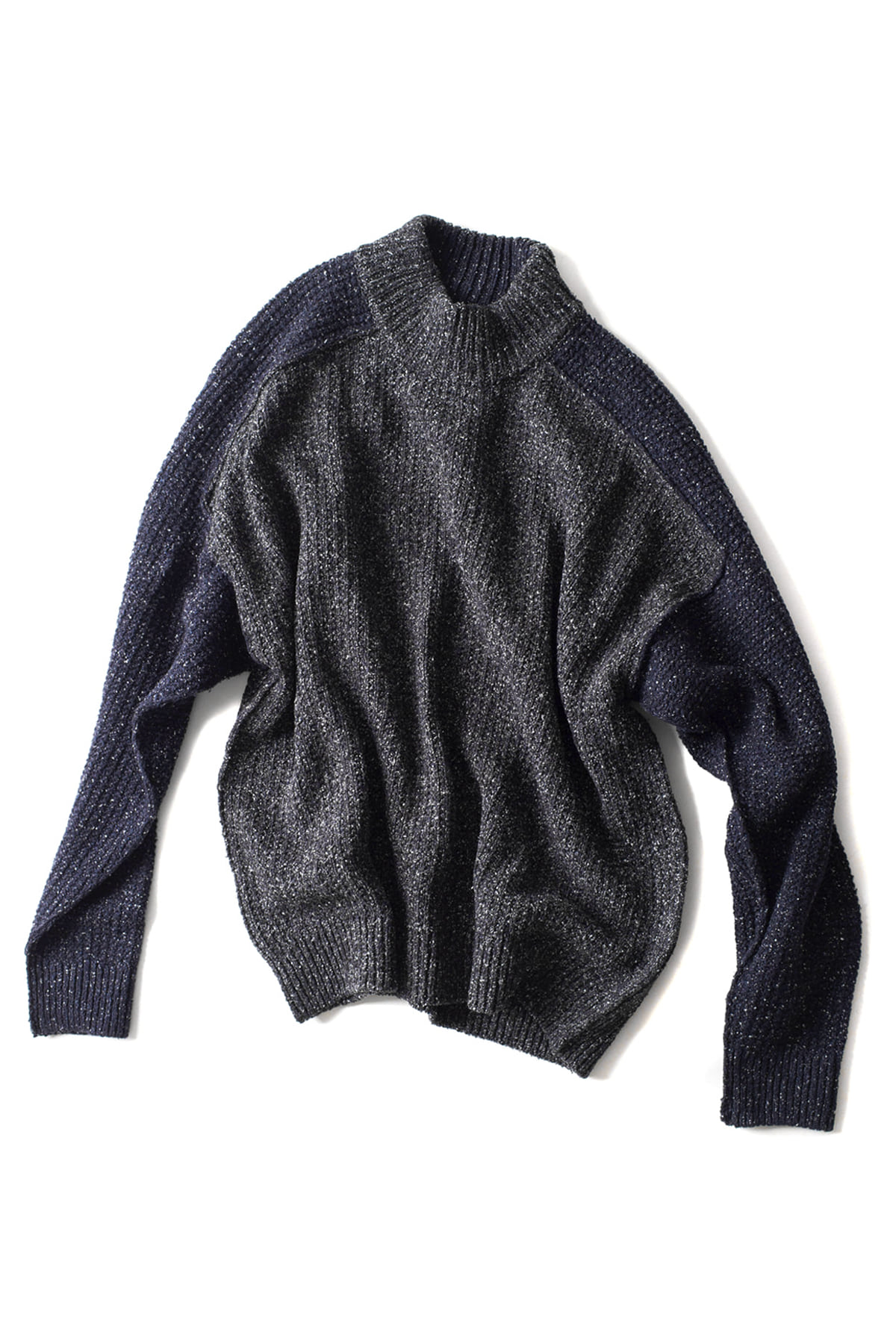 WRAPINKNOT : Raw Silk Reversible Knit (Grey)