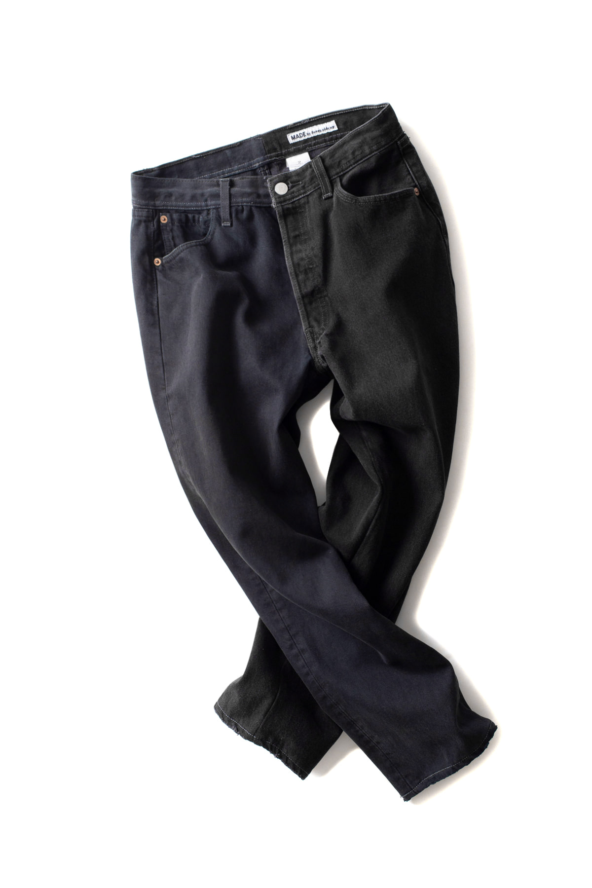 MADE by Sunny Side up : 2Forl Denim 5P Pants 2Size Black (A)