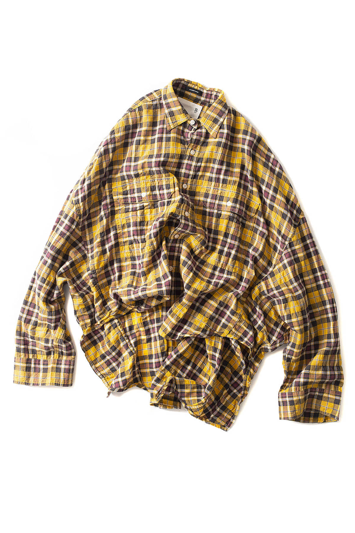 R13 : Oversized Plaid Shirt (Yellow Plaid)