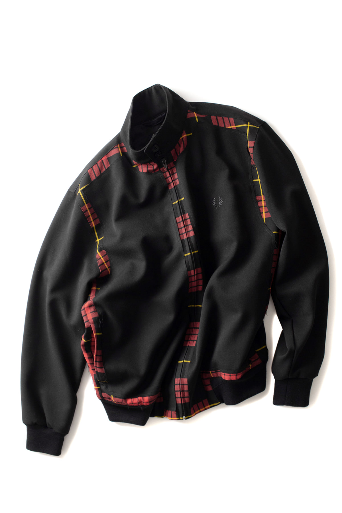 FRED PERRY : Cut Away Harrington Jacket (Black)