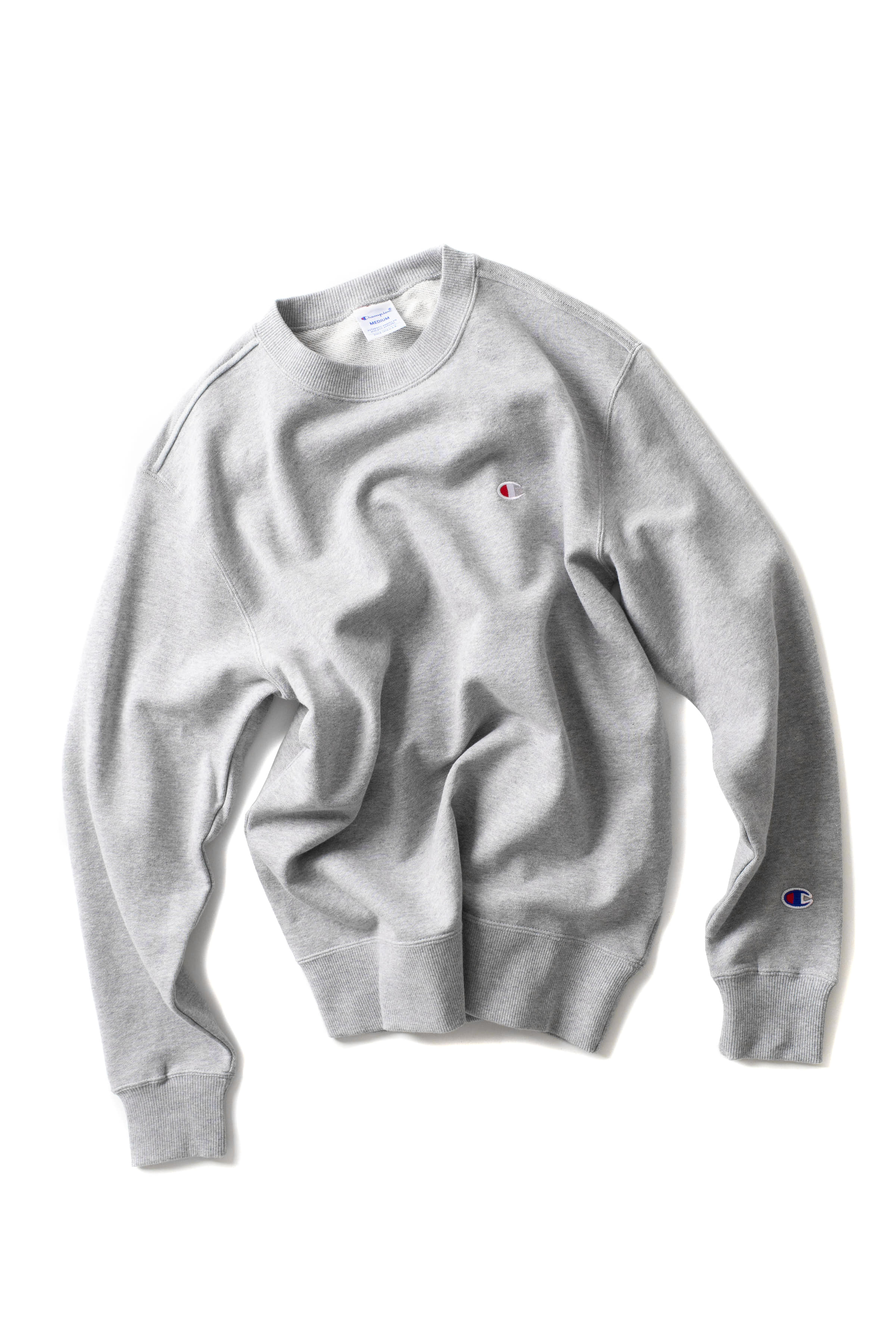 Champion : Basic Crewneck Sweat Shirt (Grey)