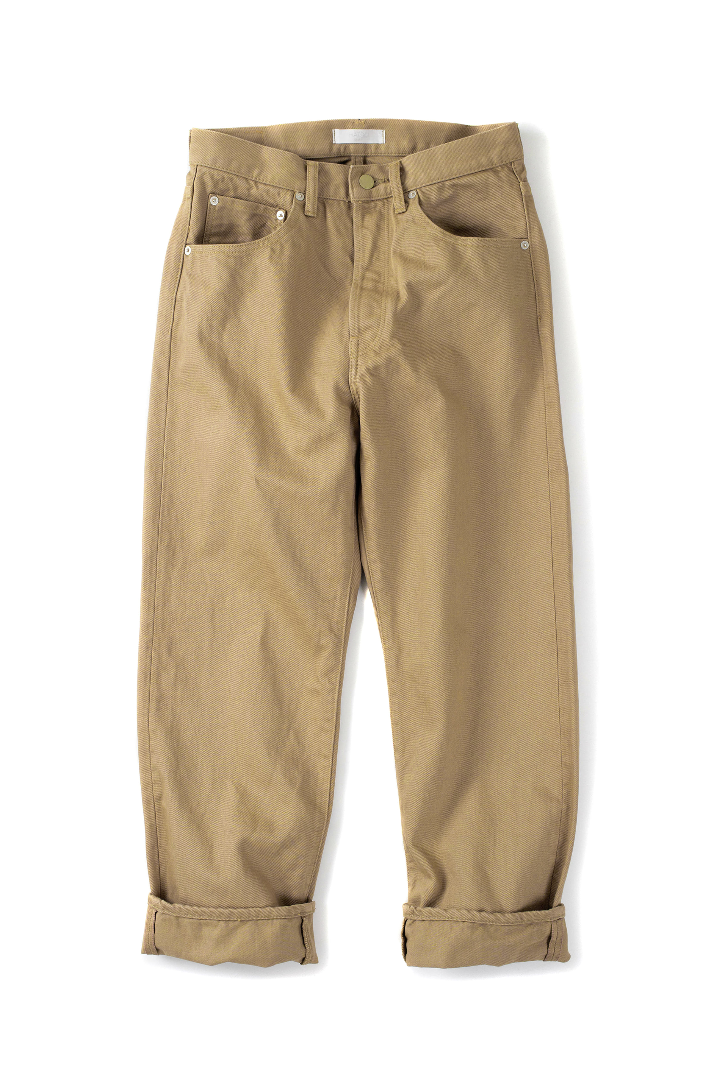 HATSKI : 18004 Loose Tapered Denim (Beige)