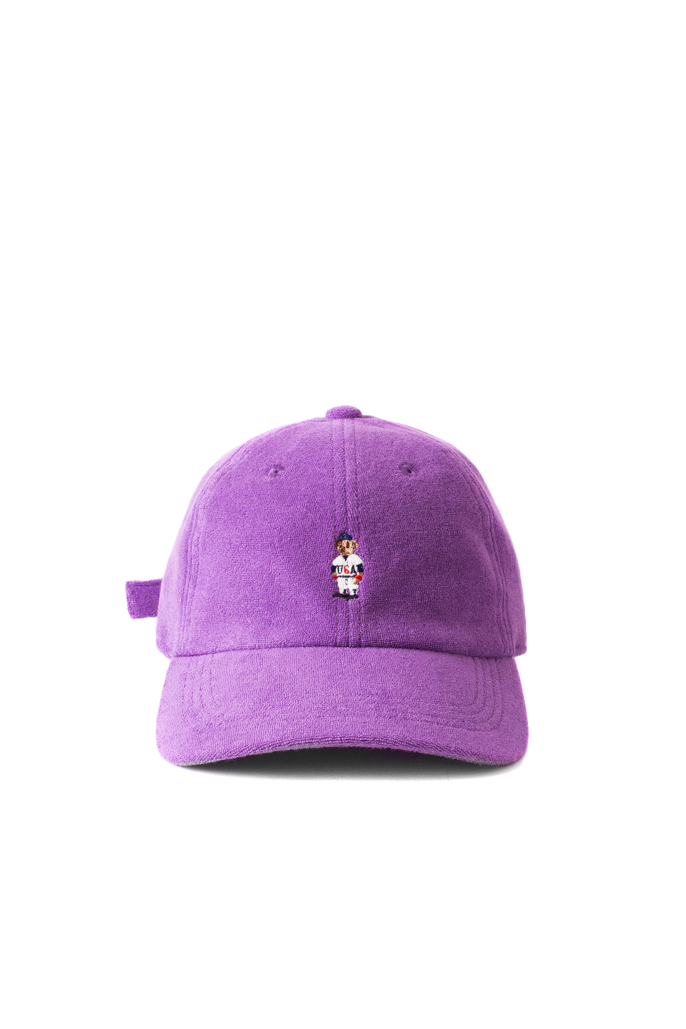 Infielder Design : Pile Bear Cap (Purple)