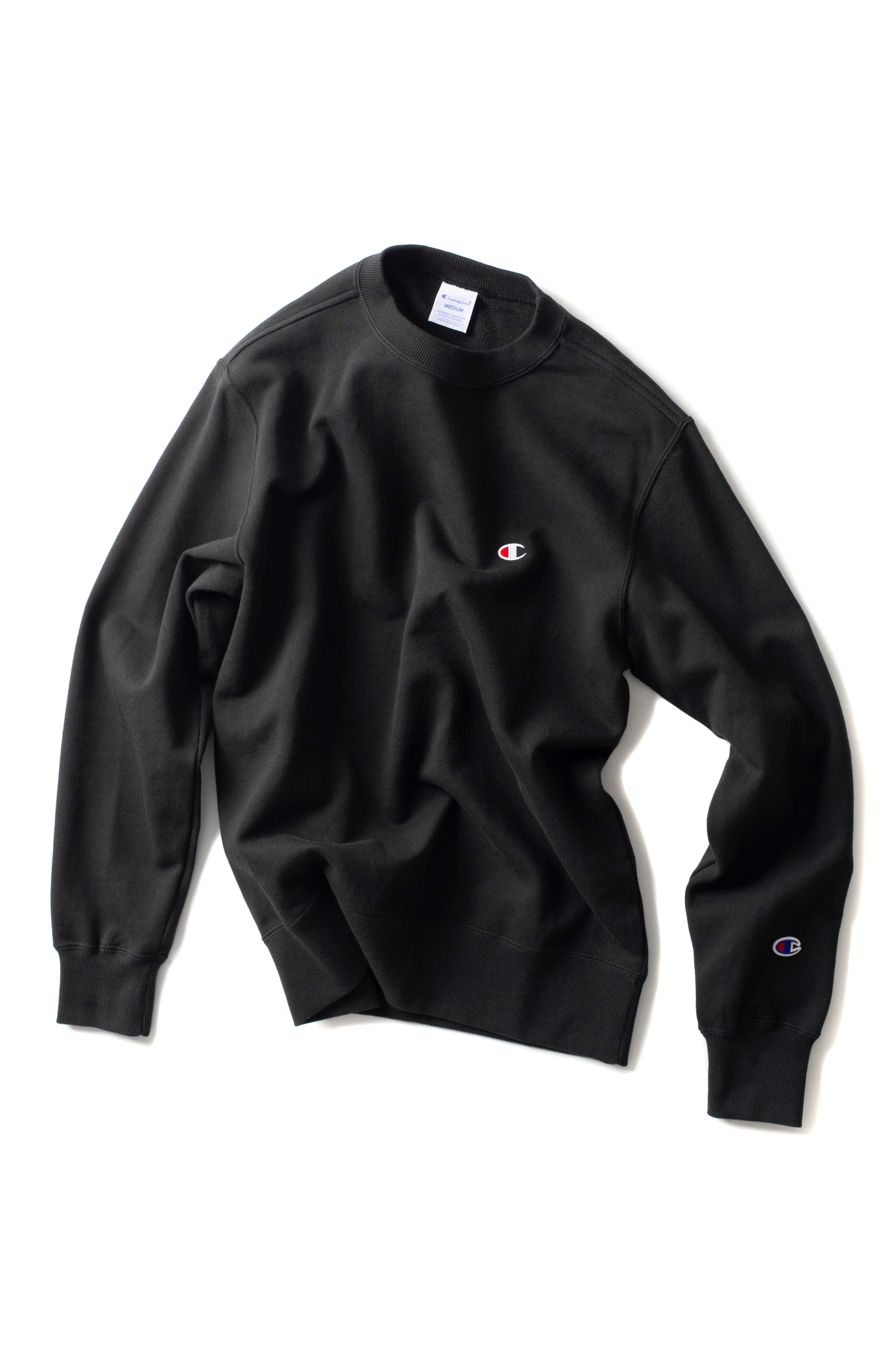 Champion : Basic Crewneck Sweat Shirt (Black)