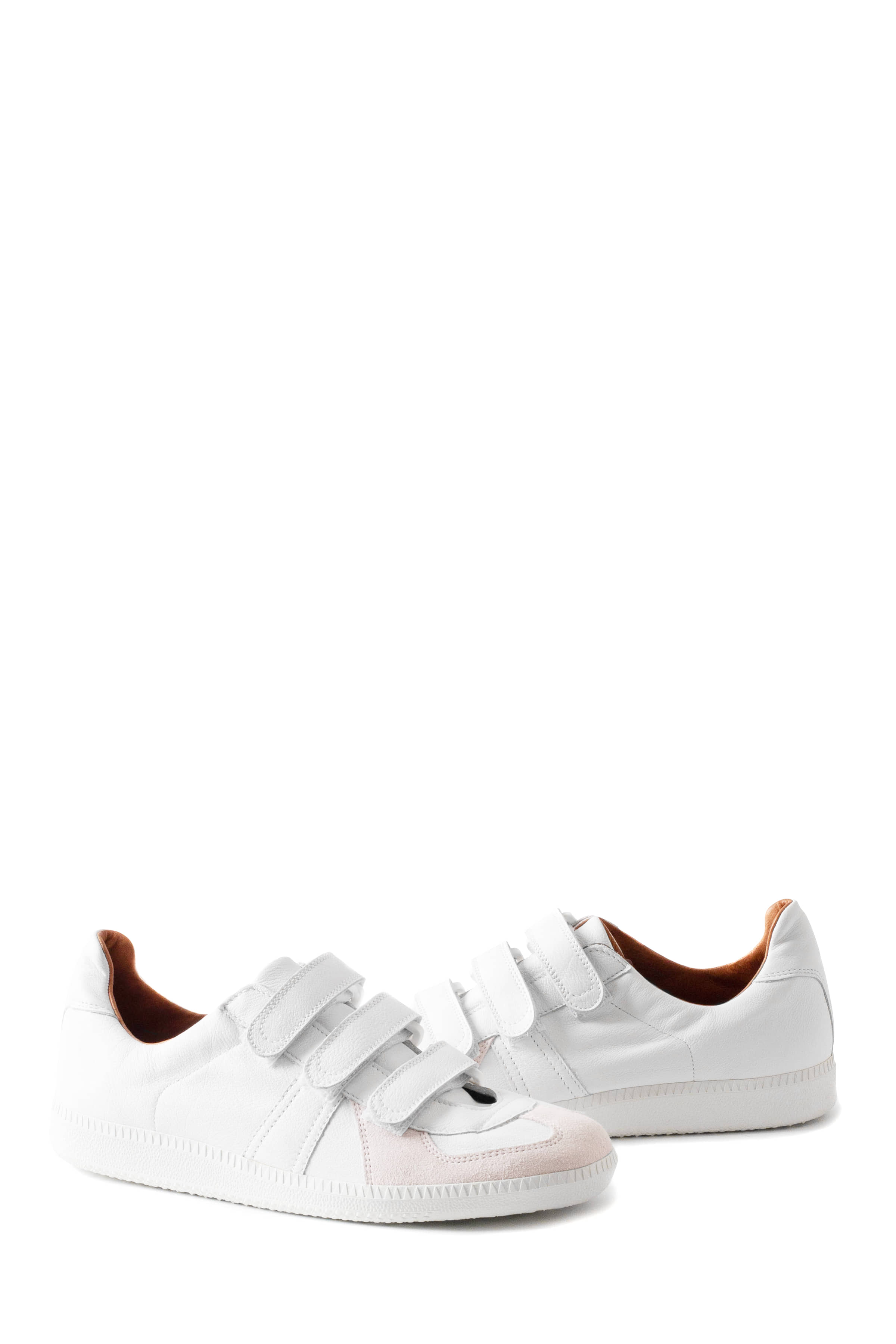 REPRODUCTION OF FOUND : German Velcro Military Trainer (White)