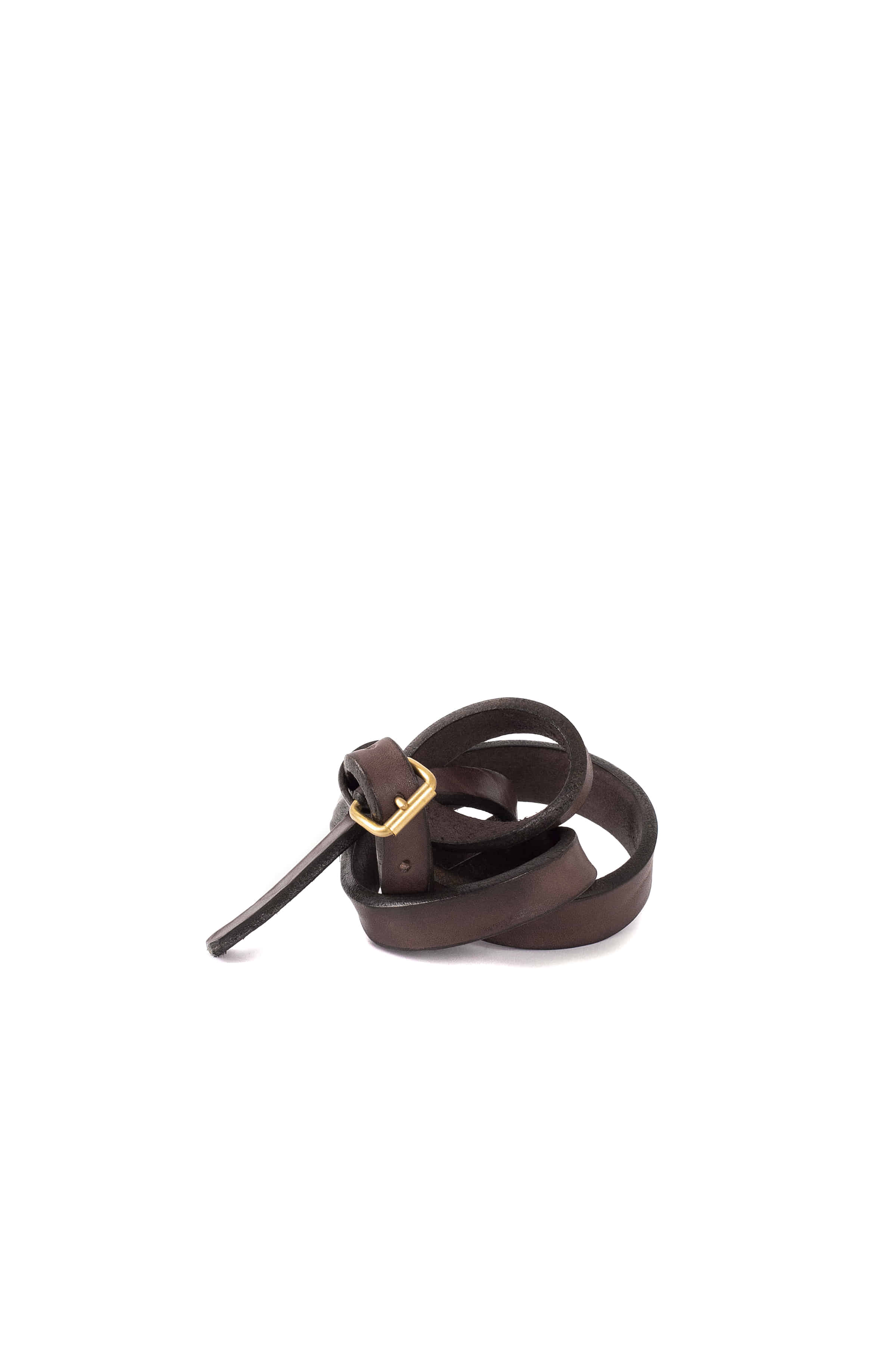 Scye : Cow Shoulder Plain Belt (Brown)