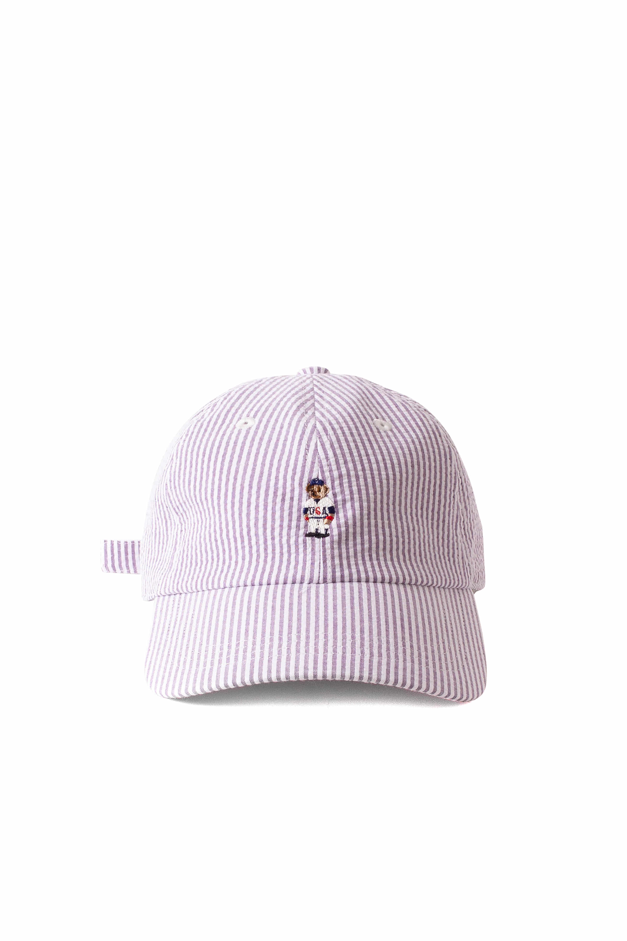 Infielder Design : Stripe Bear Cap (Purple)