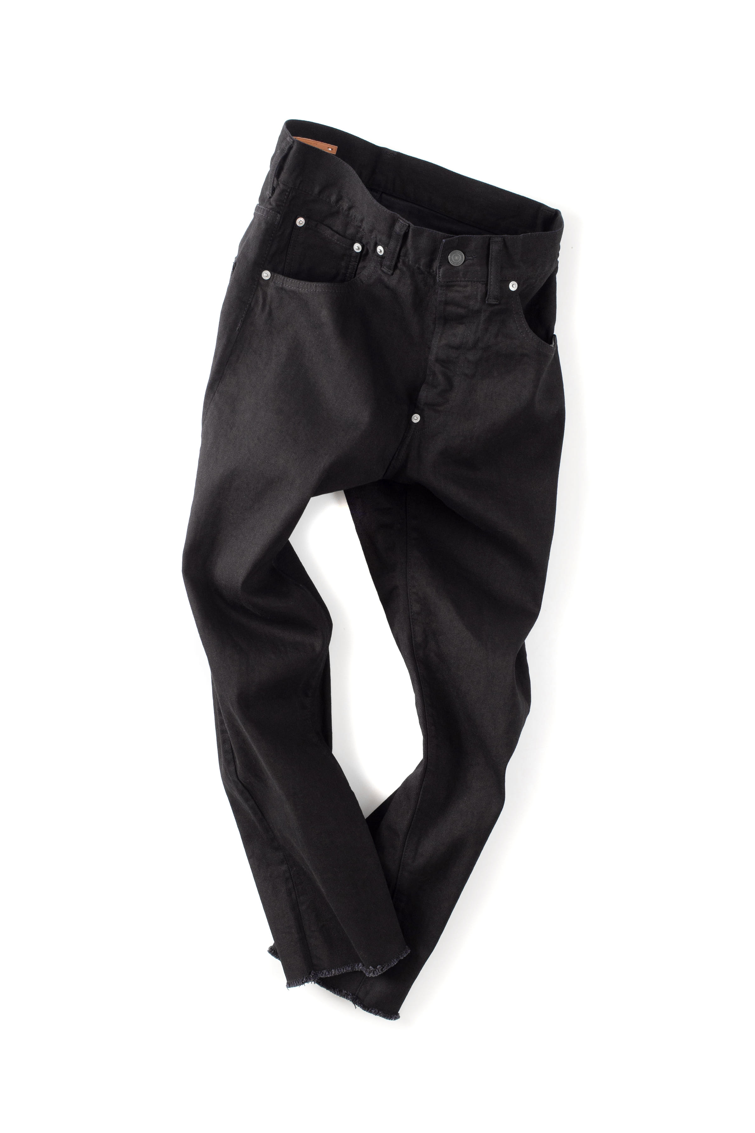 Scye Basics : Law Edge Stretch Denim Jeans (Black)
