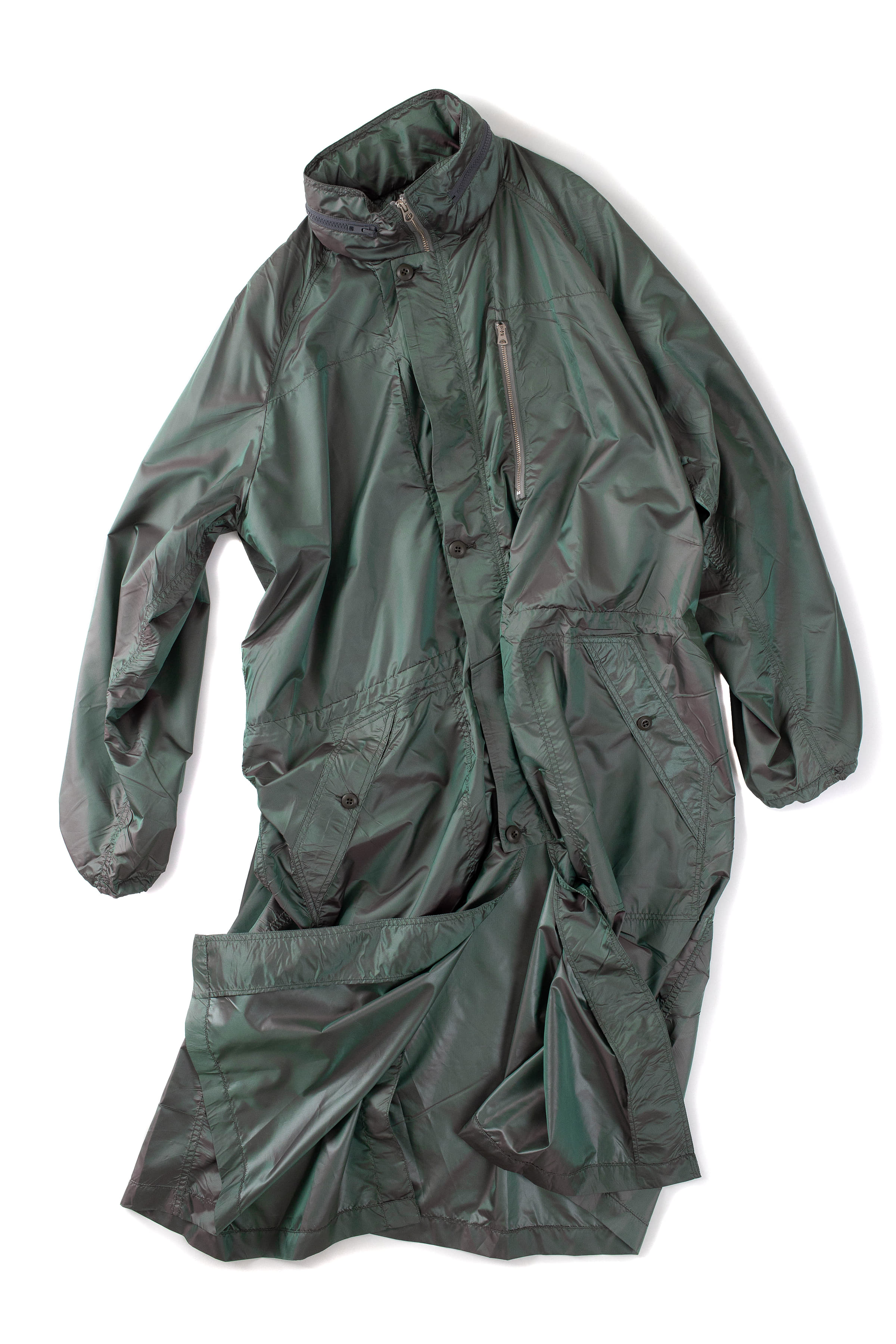 CLAMP : Long Rain Coat (Olive)