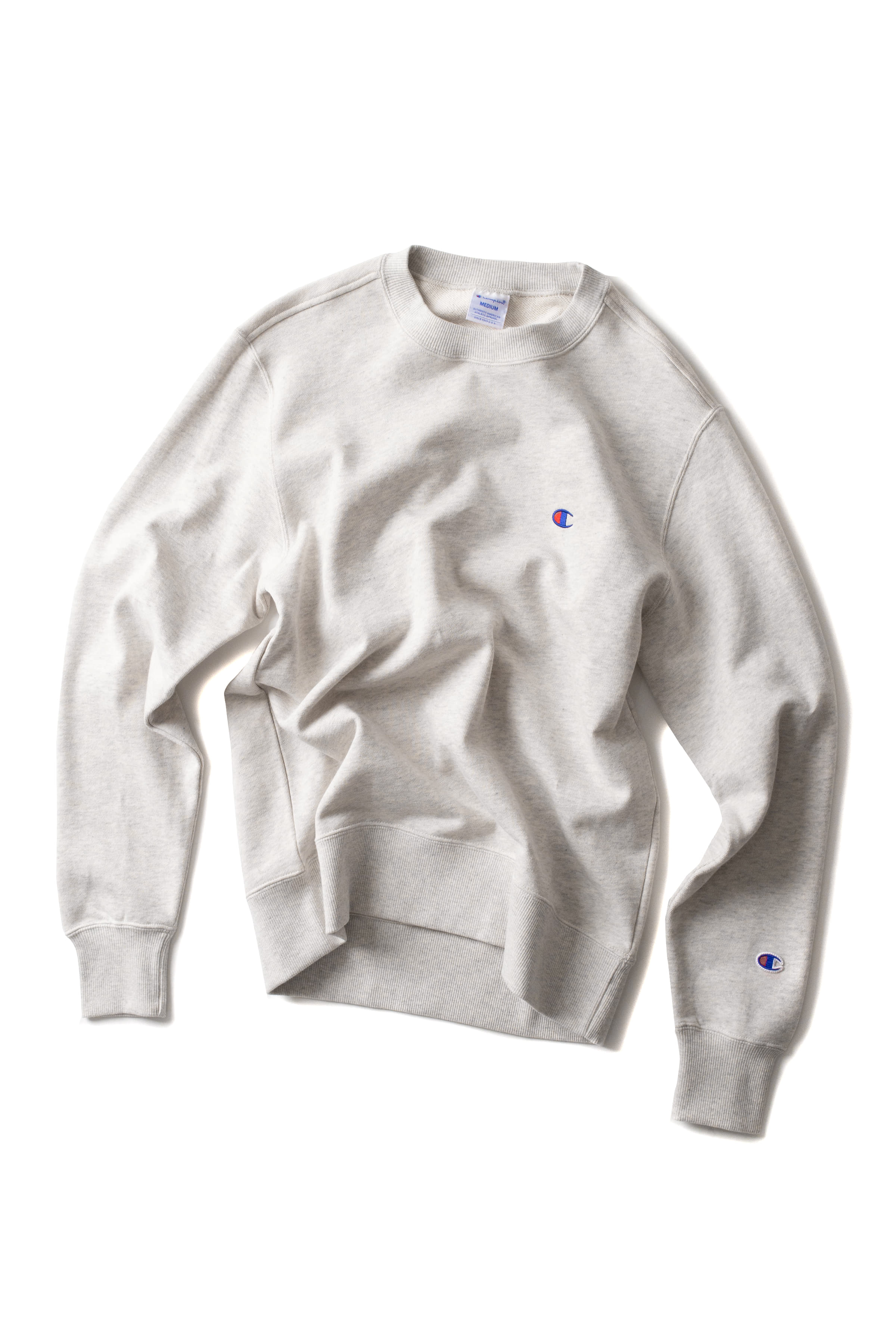 Champion : Basic Crewneck Sweat Shirt (Ivory)