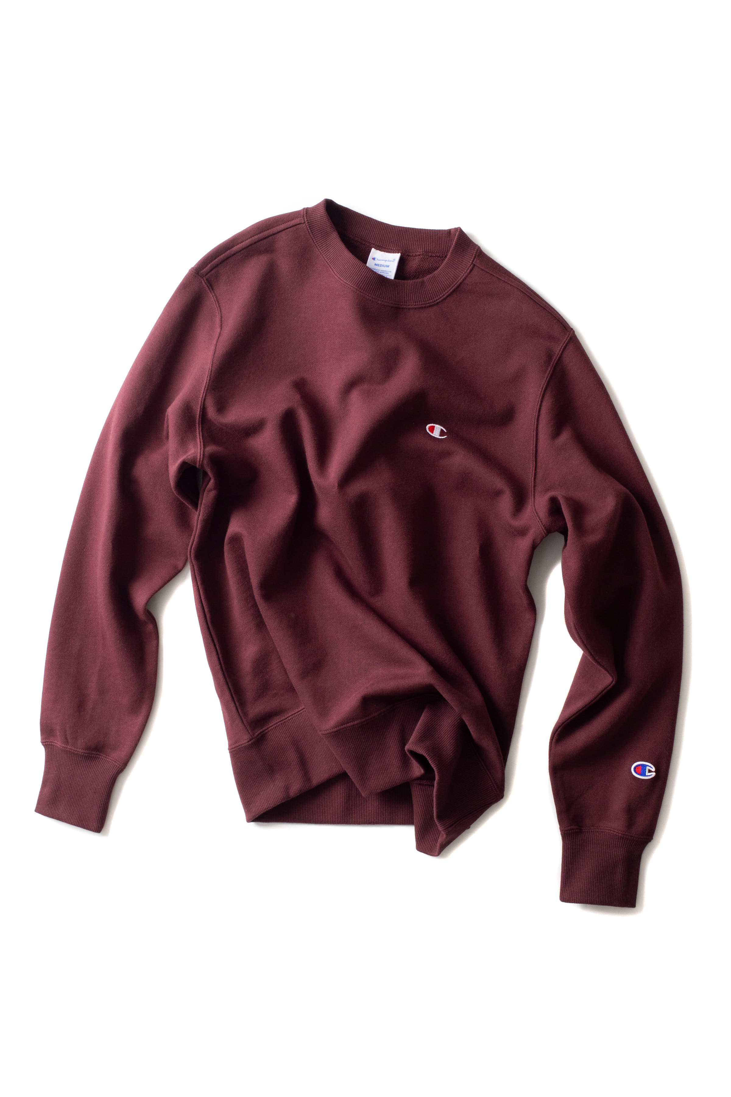 Champion : Basic Crewneck Sweat Shirt (Maroon)
