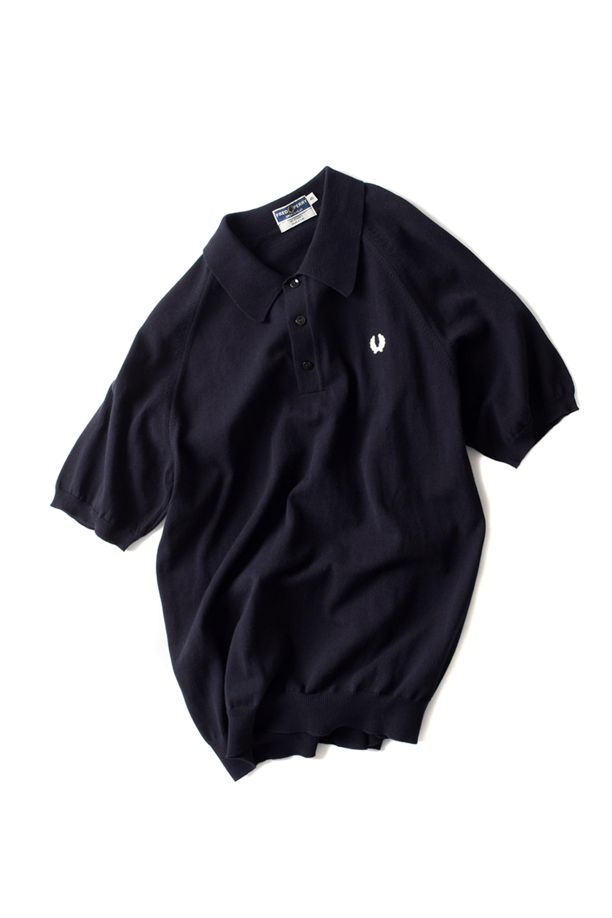 FRED PERRY : S/S Raglan Sleeve Knit Shirt (Navy)