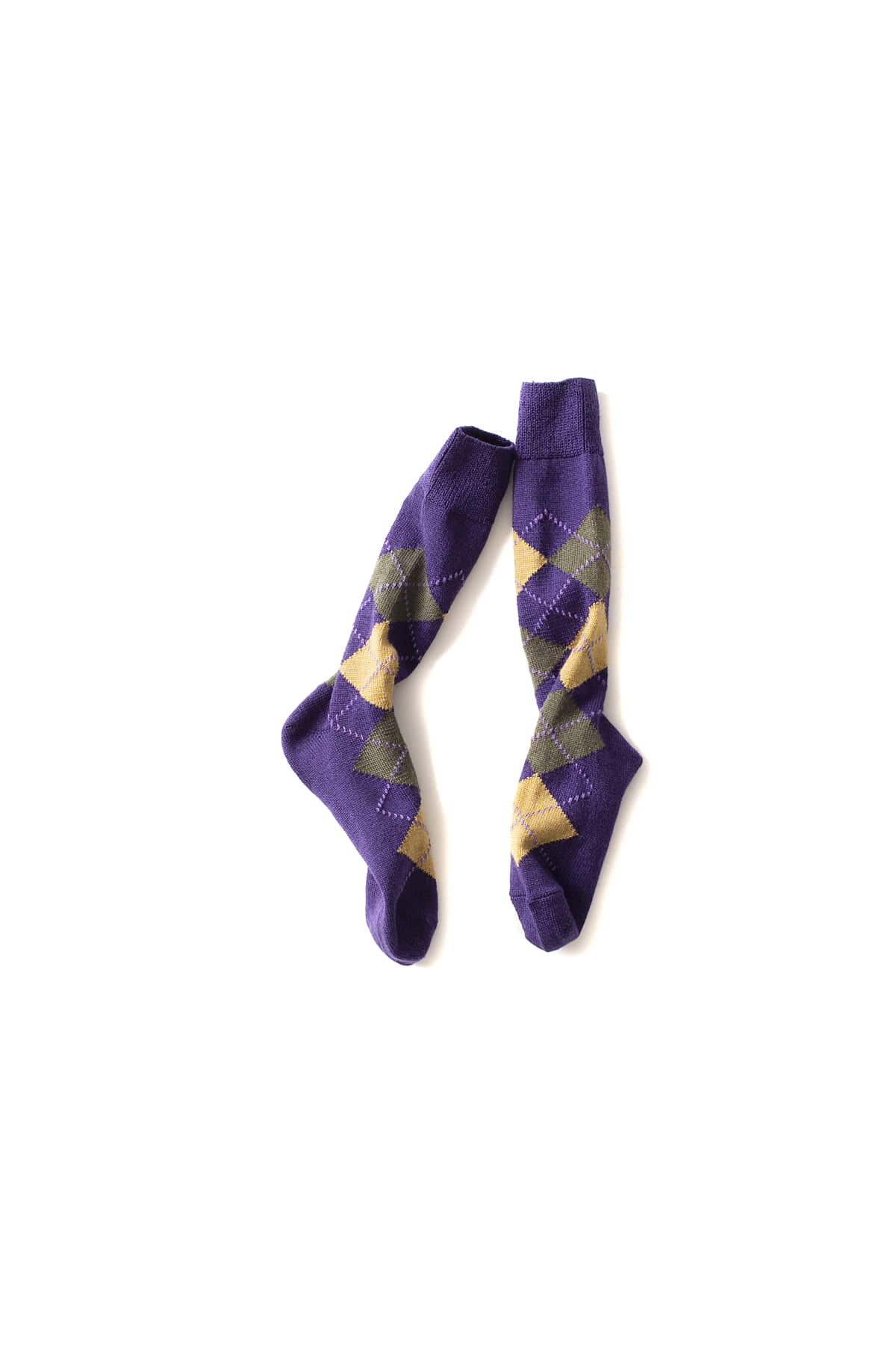 NEEDLES : Jacquard Socks (Purple)