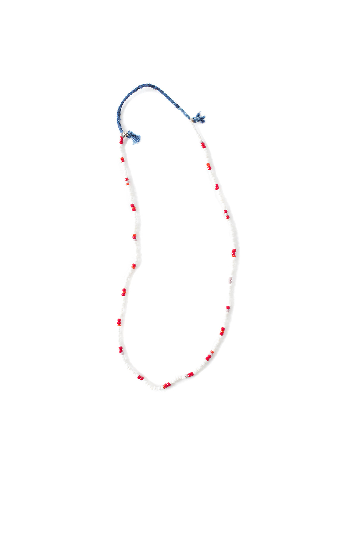 North Works : Murano Dead Stock Beads Necklace (Red)