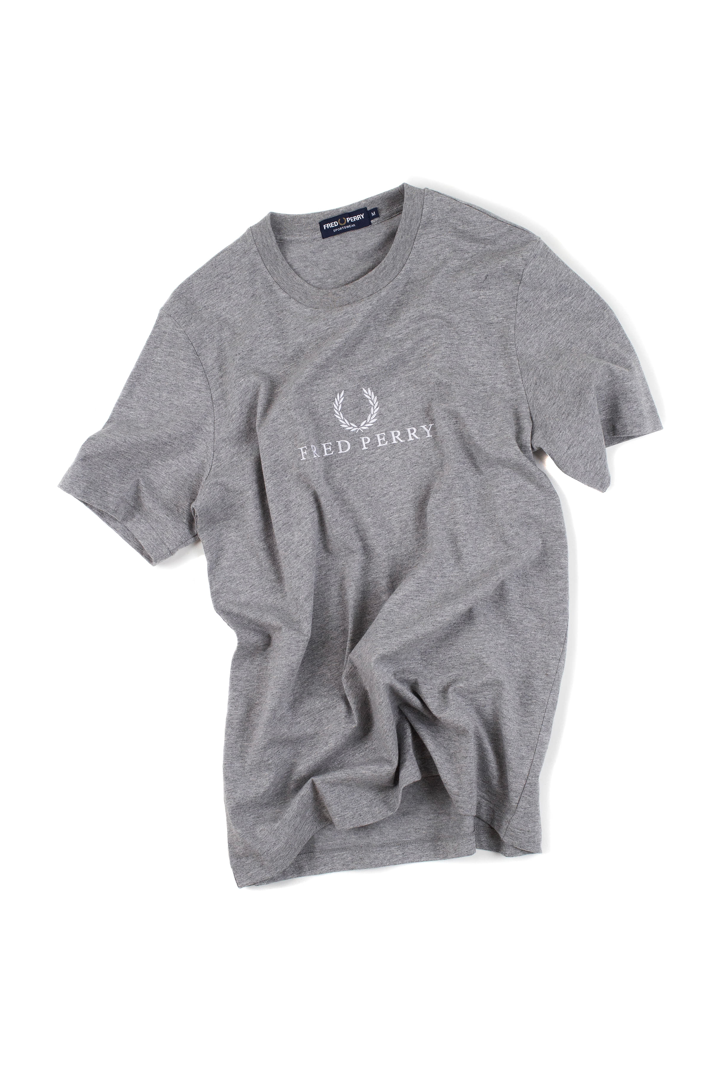 FRED PERRY : Embroidered T-Shirt (Grey)