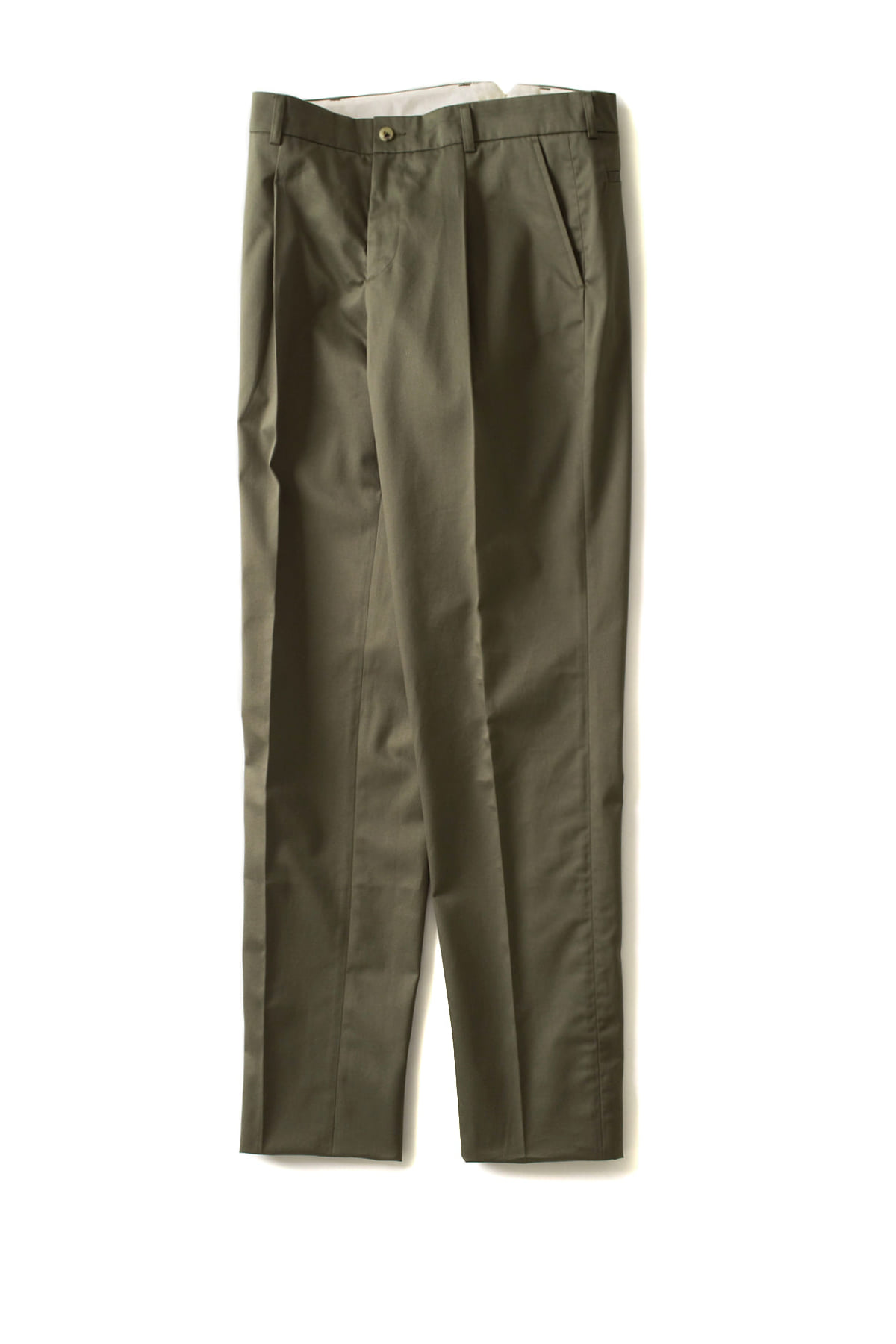 de bonne facture : One Pleat Trousers (Khaki)