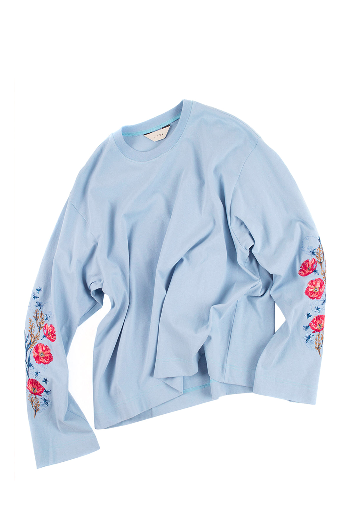 JieDa : Flower Embroiderey L/S (Blue)
