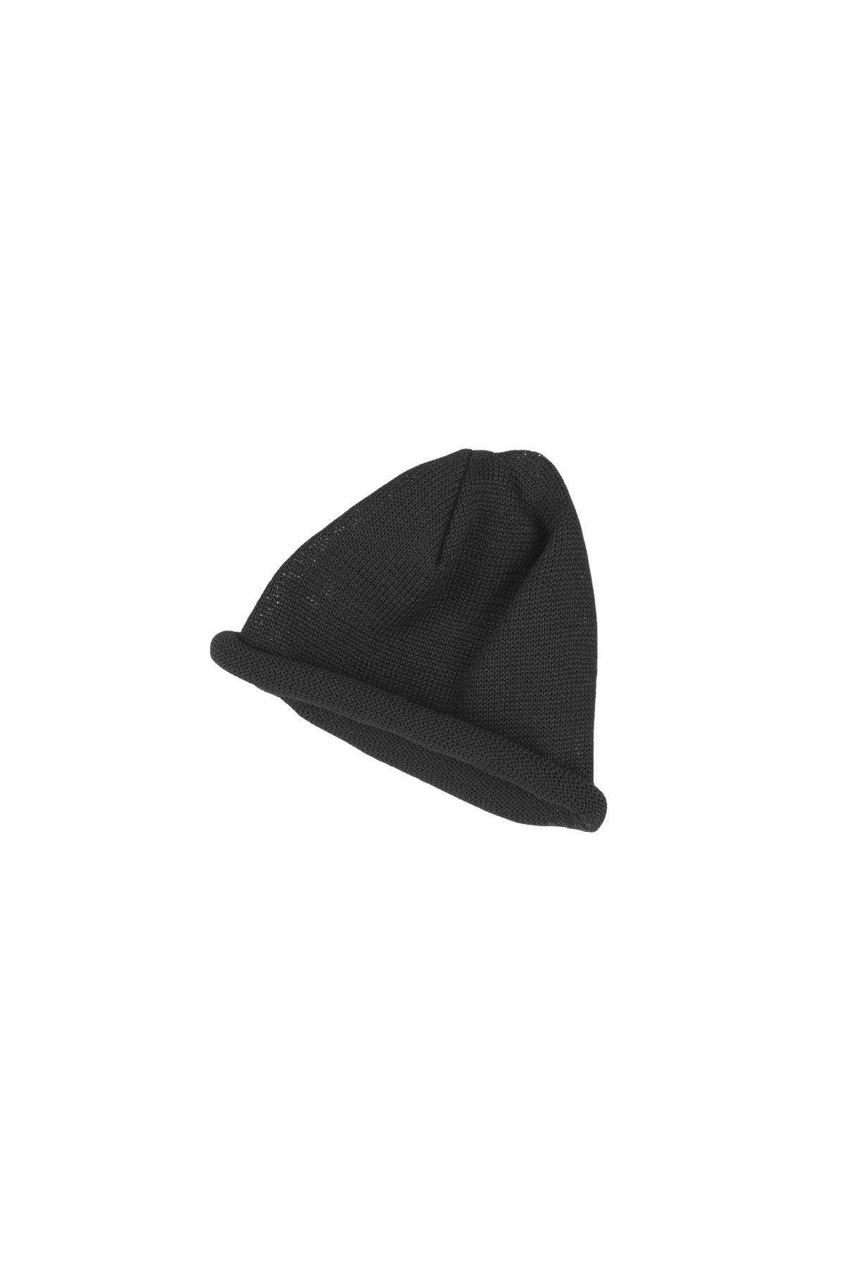 Infielder Design : Straw Roll Knit Cap (Black)